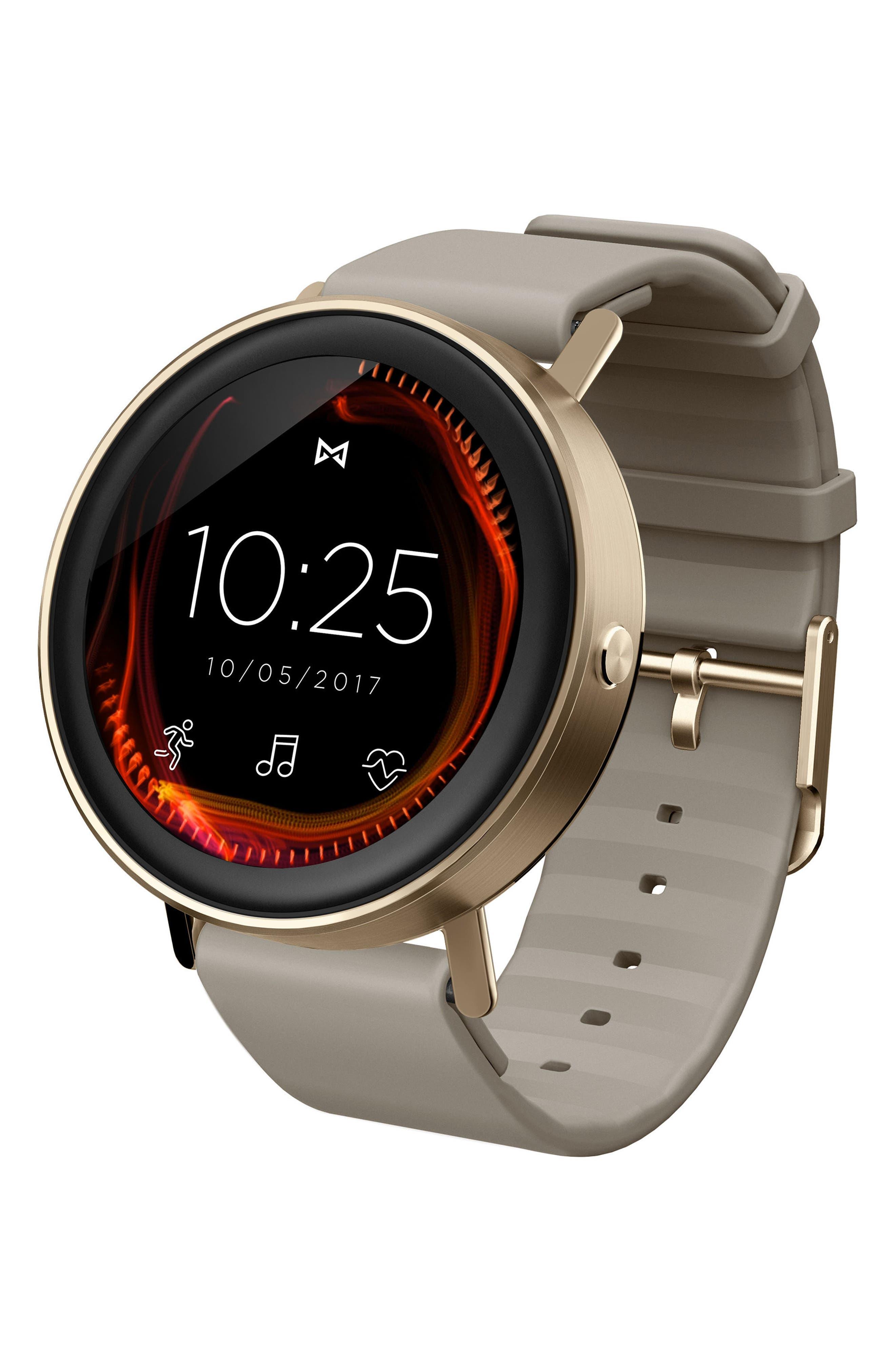 Vapor Sport Strap Smart Watch, 44mm,                             Main thumbnail 1, color,                             Nude