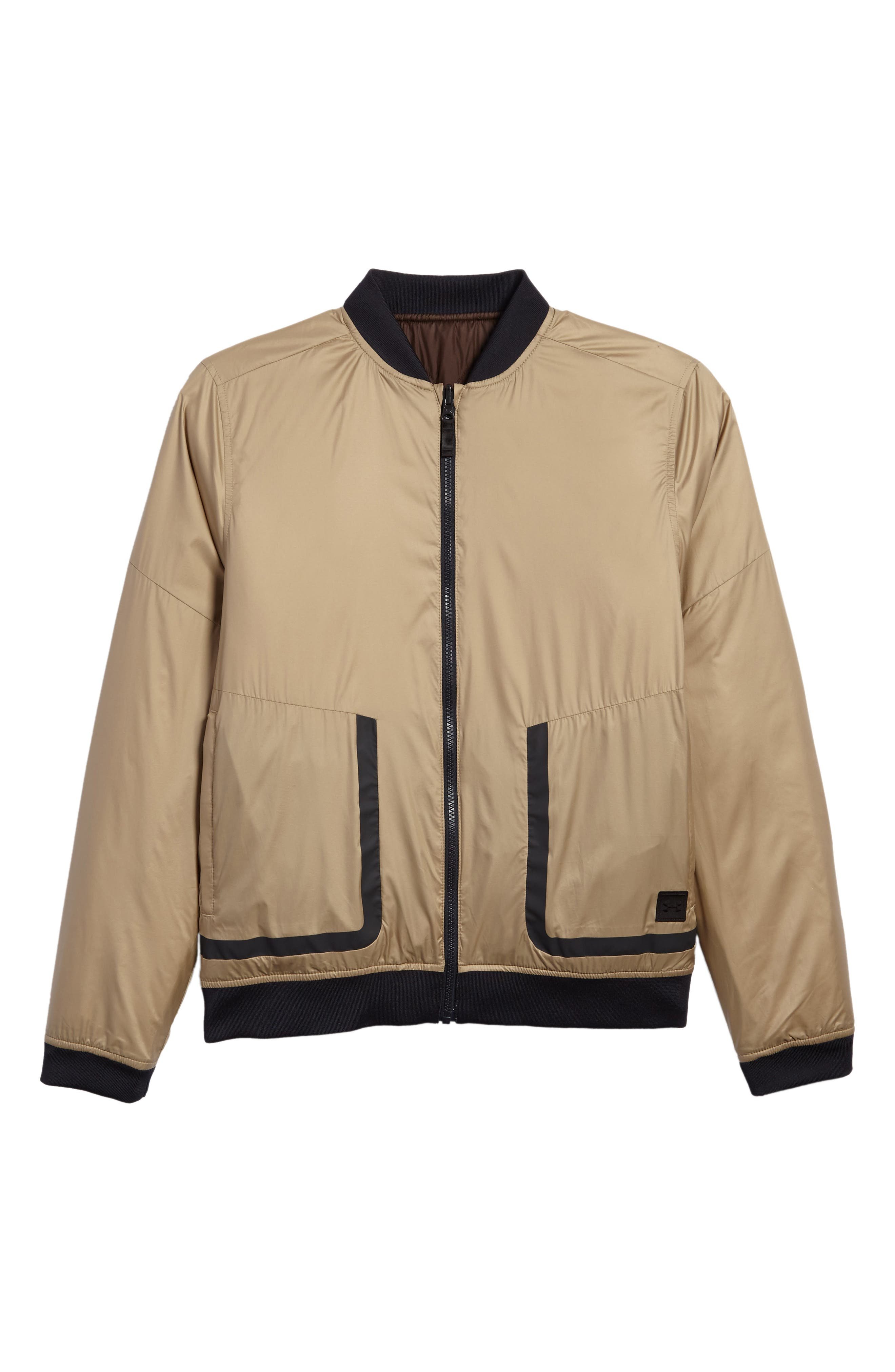 Main Image - Under Armour Sportstyle Reactor Reversible Bomber Jacket