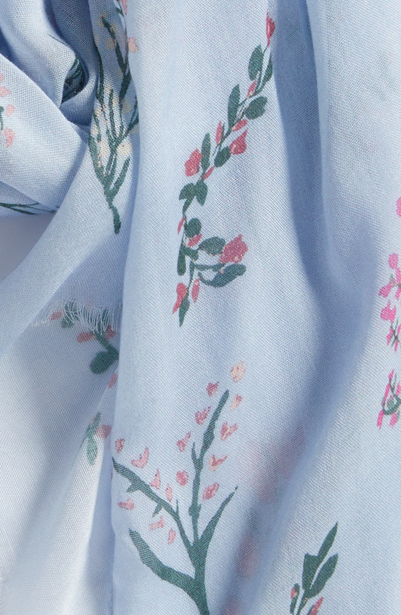 Pressed Flowers Scarf,                             Alternate thumbnail 4, color,                             Skyway
