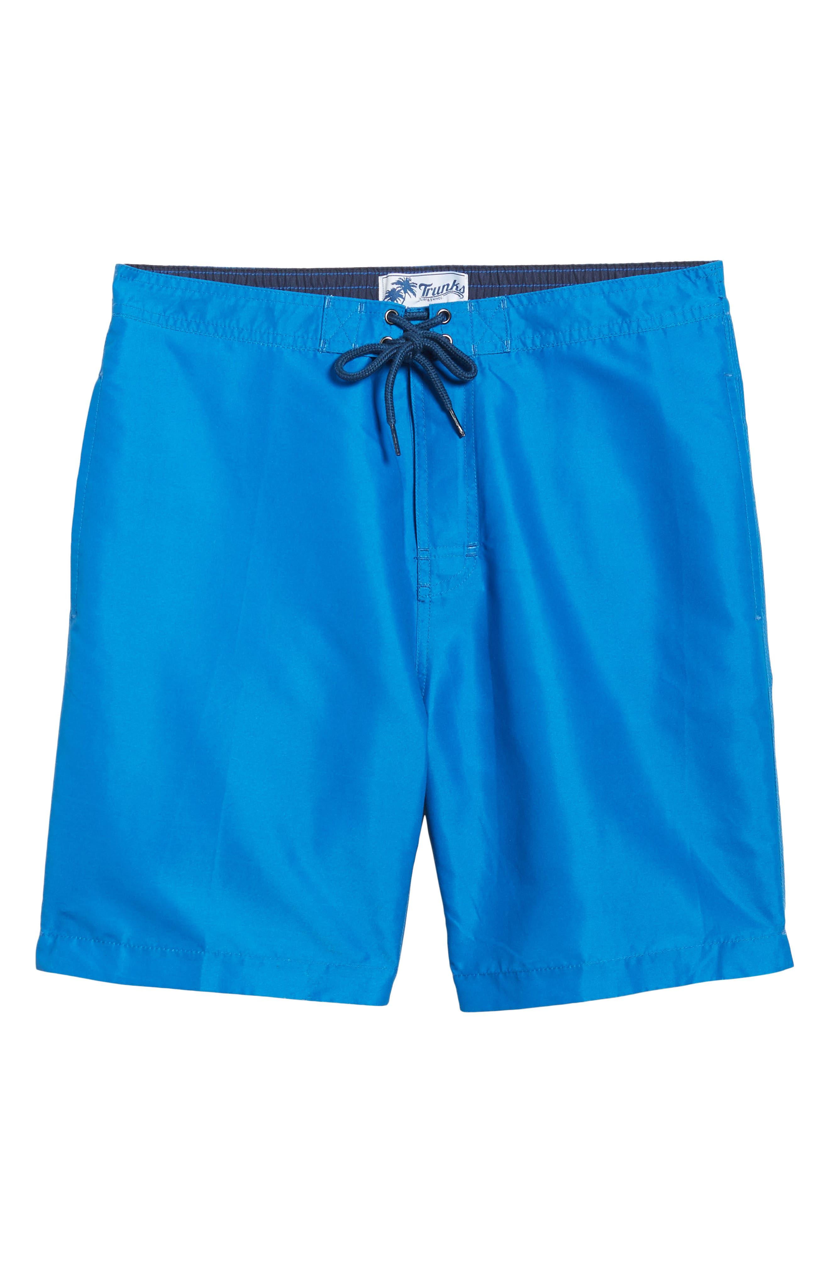Swami Solid Board Shorts,                             Alternate thumbnail 6, color,                             Nautical Blue/ Marine