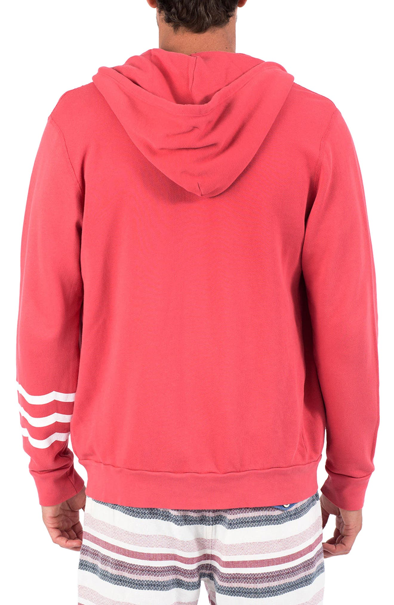 Essential Hoodie,                             Alternate thumbnail 2, color,                             Rojo