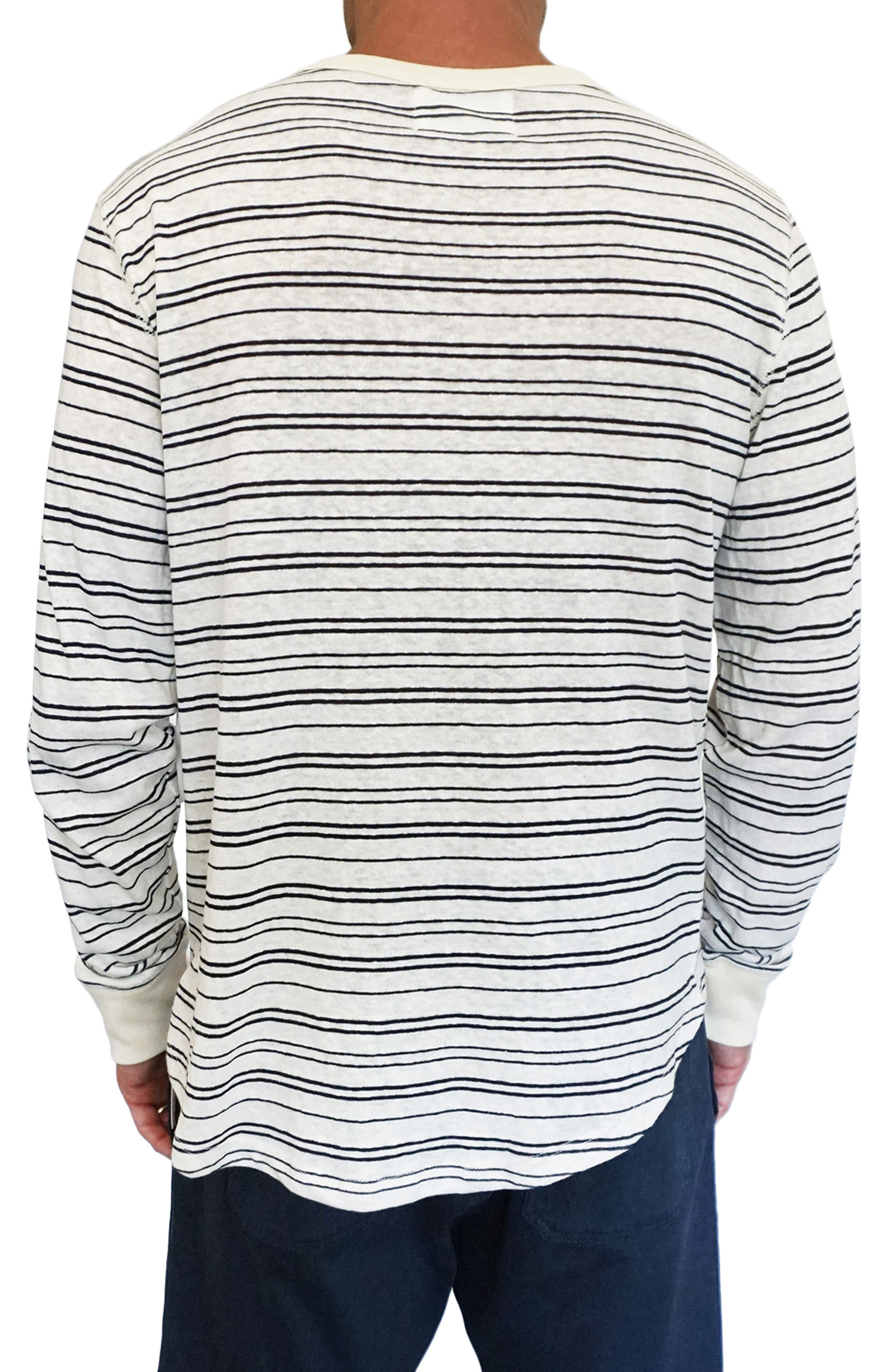 Nautical Stripe Henley,                             Alternate thumbnail 2, color,                             Natural