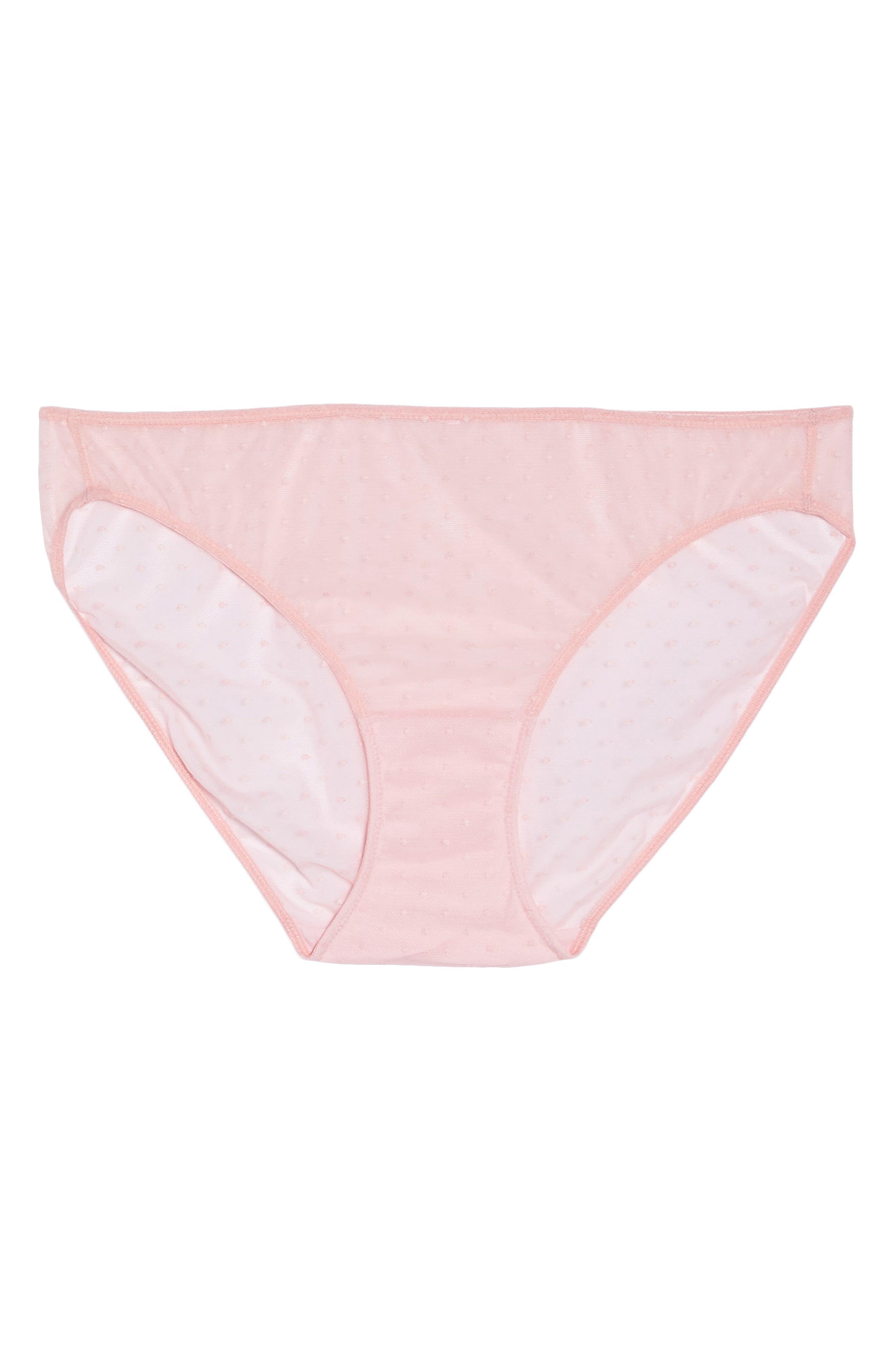 Swiss Dot Bikini,                             Alternate thumbnail 4, color,                             Candy Pink