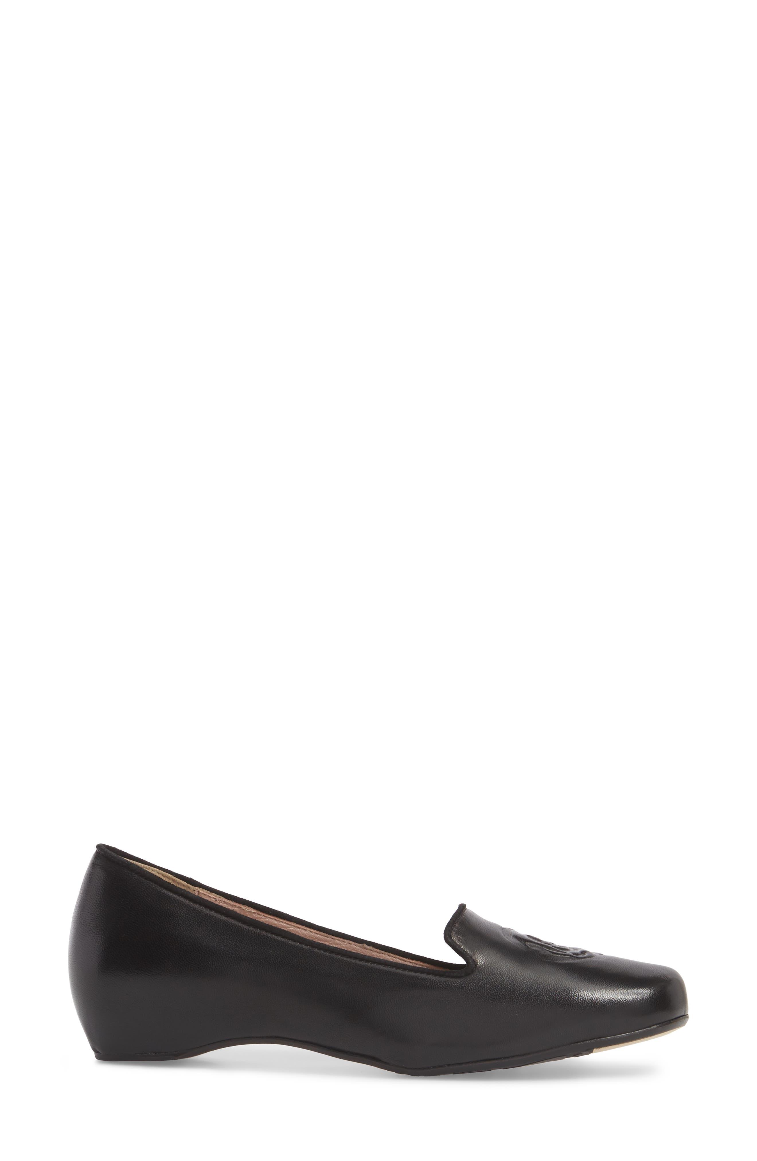 Taryn Rose Belissa Loafer,                             Alternate thumbnail 3, color,                             Black Leather
