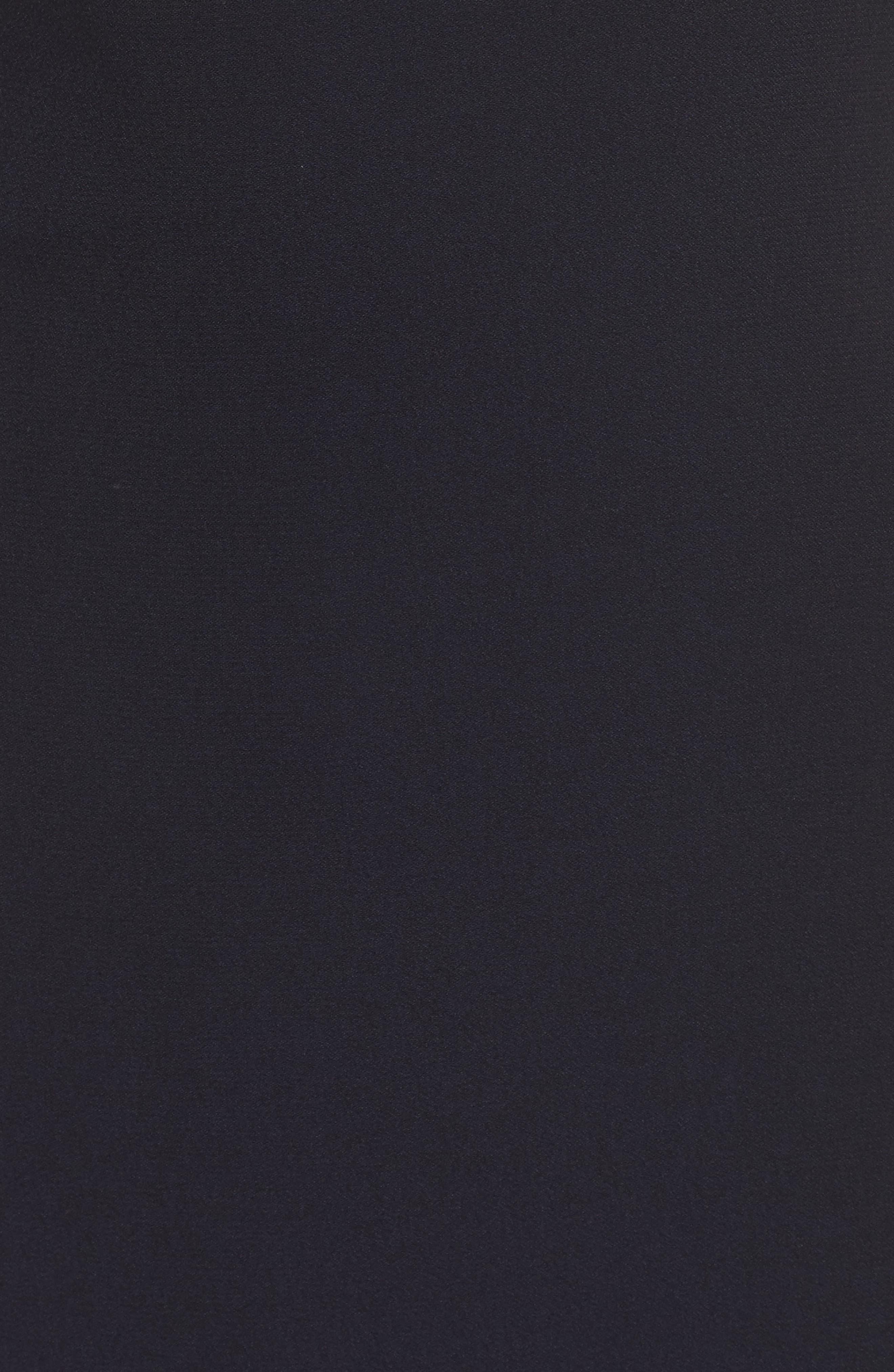 Alternate Image 5  - Vince Camuto Embellished Ruffle Back Crepe Gown