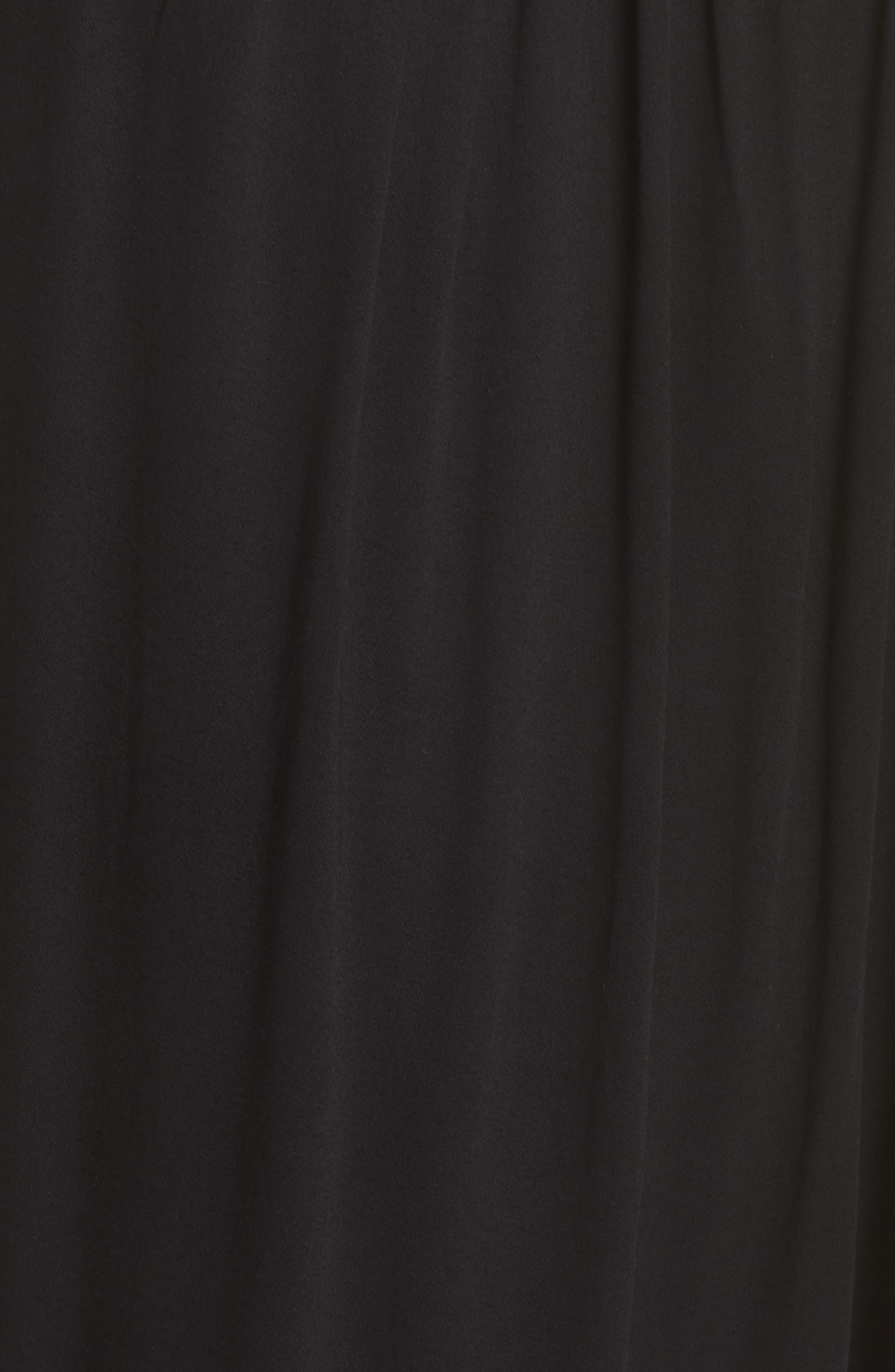 California Core Pali Wrap Cover-Up Dress,                             Alternate thumbnail 5, color,                             Black