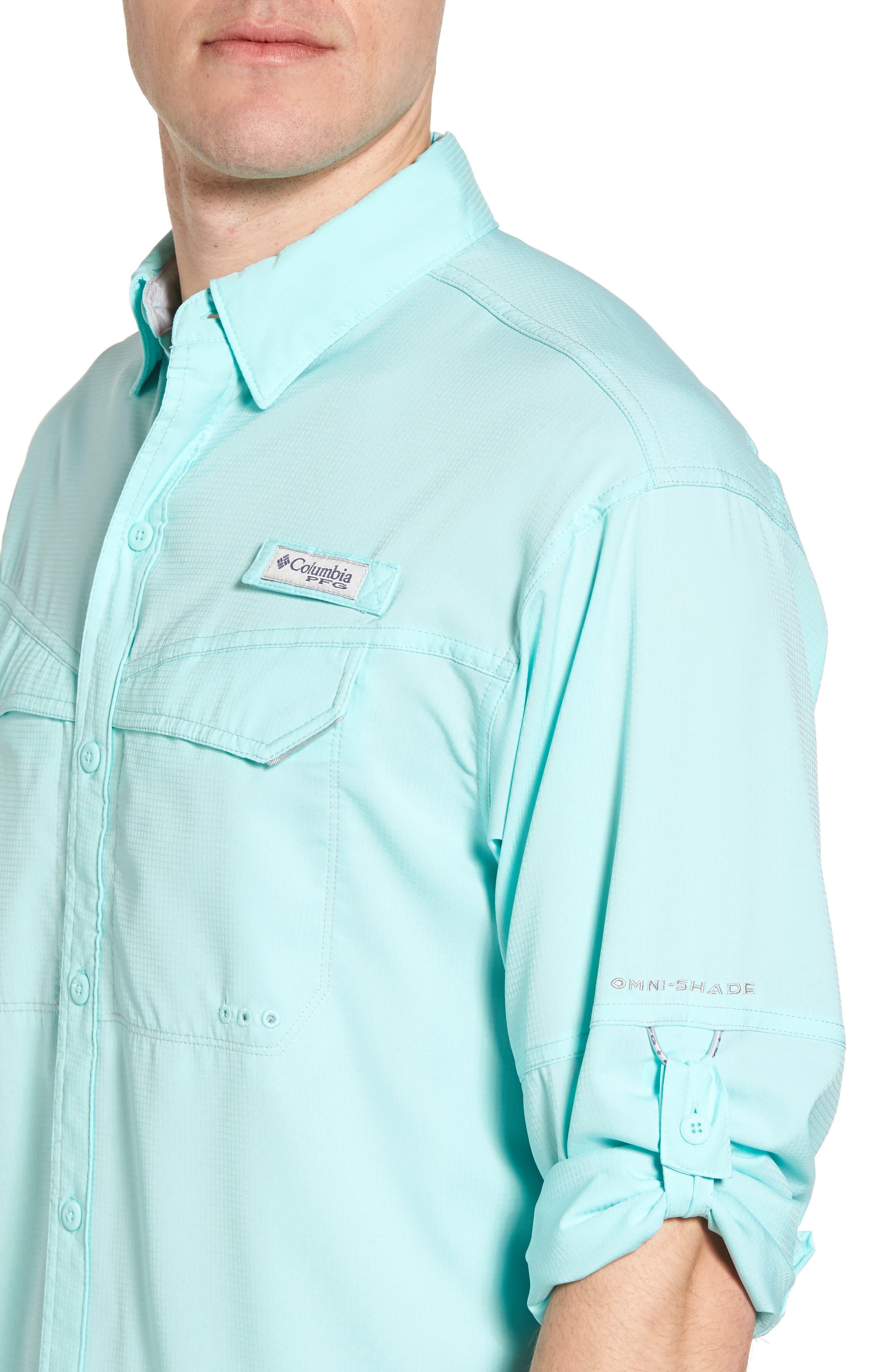 Low Drag Offshore Woven Shirt,                             Alternate thumbnail 4, color,                             Vivid Blue