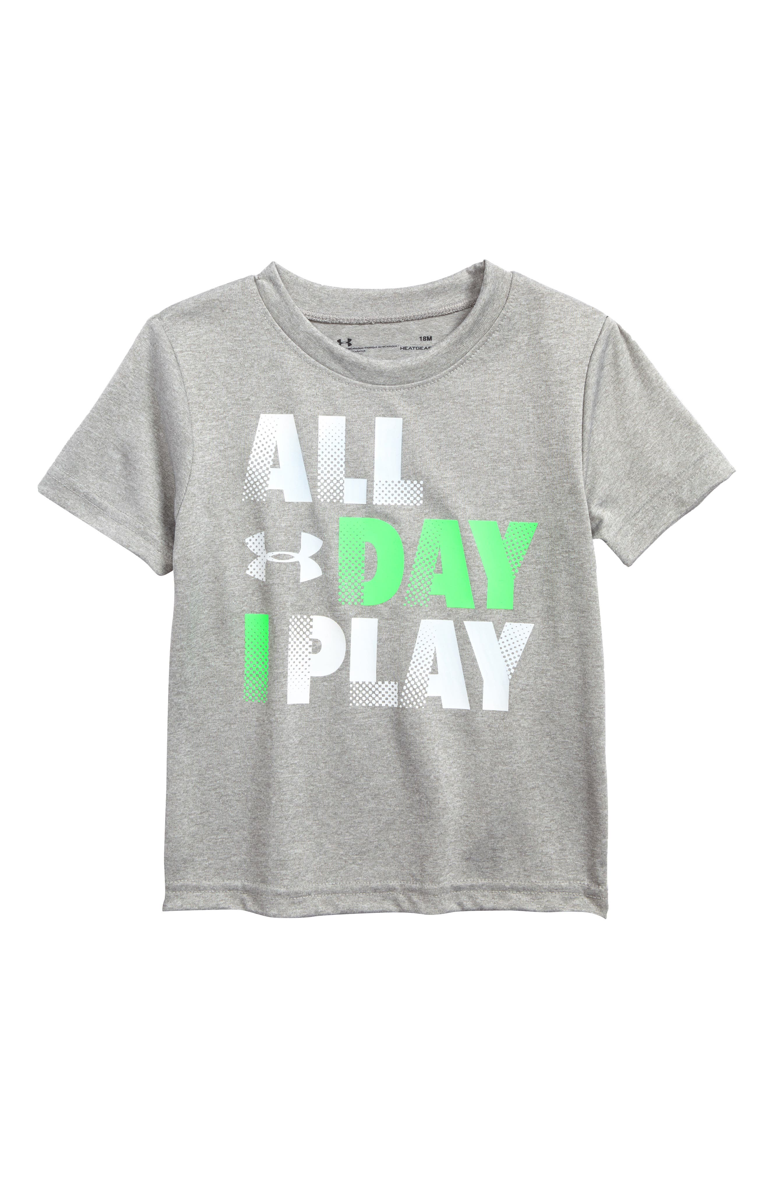 Main Image - Under Armour All Day I Play Graphic HeatGear® T-Shirt (Baby Boys)