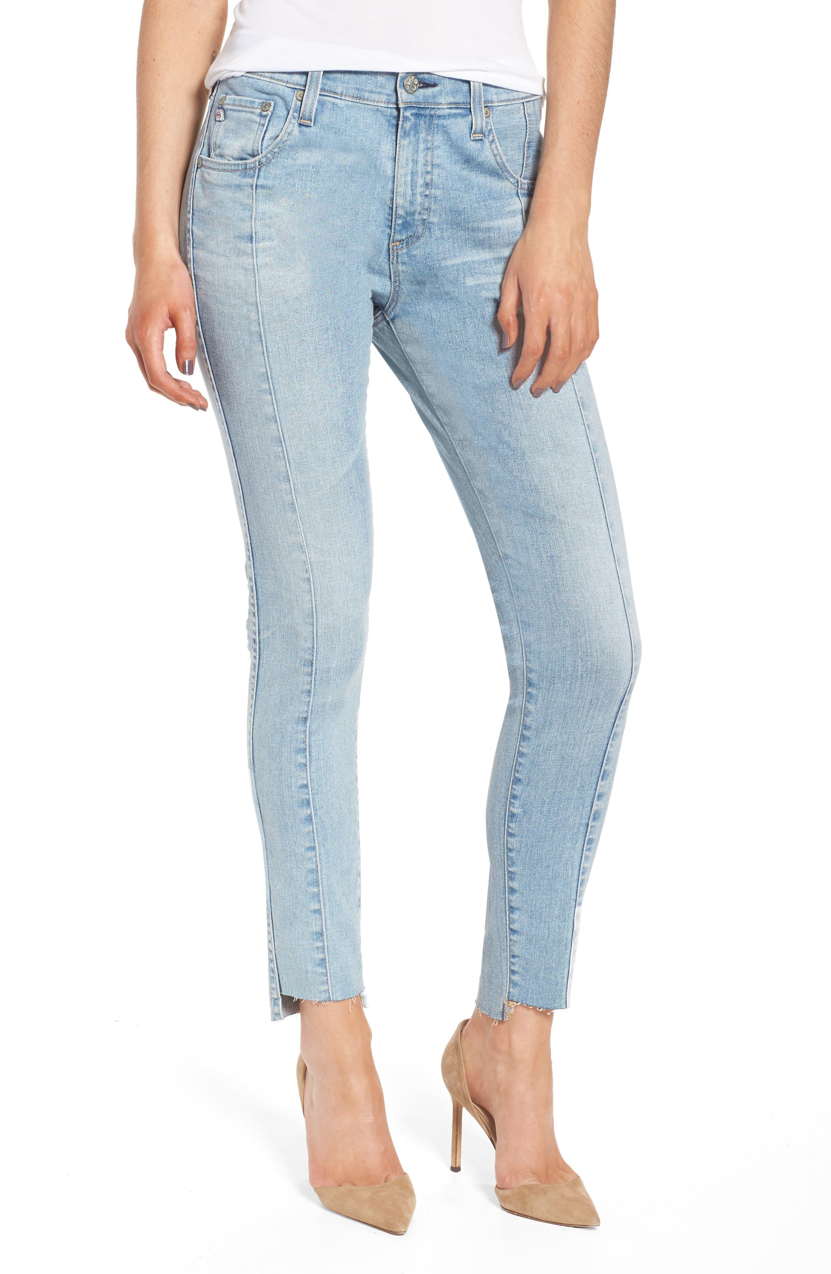 Alternate Image 1 Selected - AG The Farrah High Waist Ankle Skinny Jeans (20 Years Oceana)