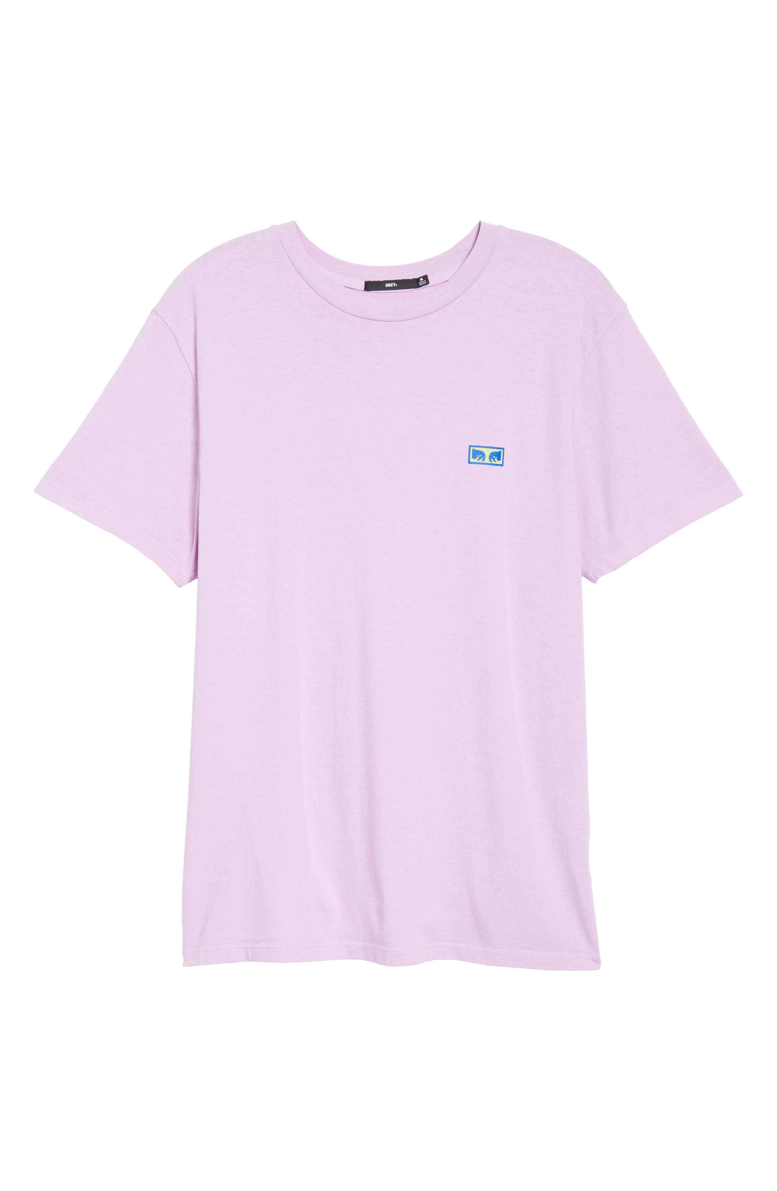 Flashback Pigment Dyed T-Shirt,                             Alternate thumbnail 6, color,                             Dusty Lavender