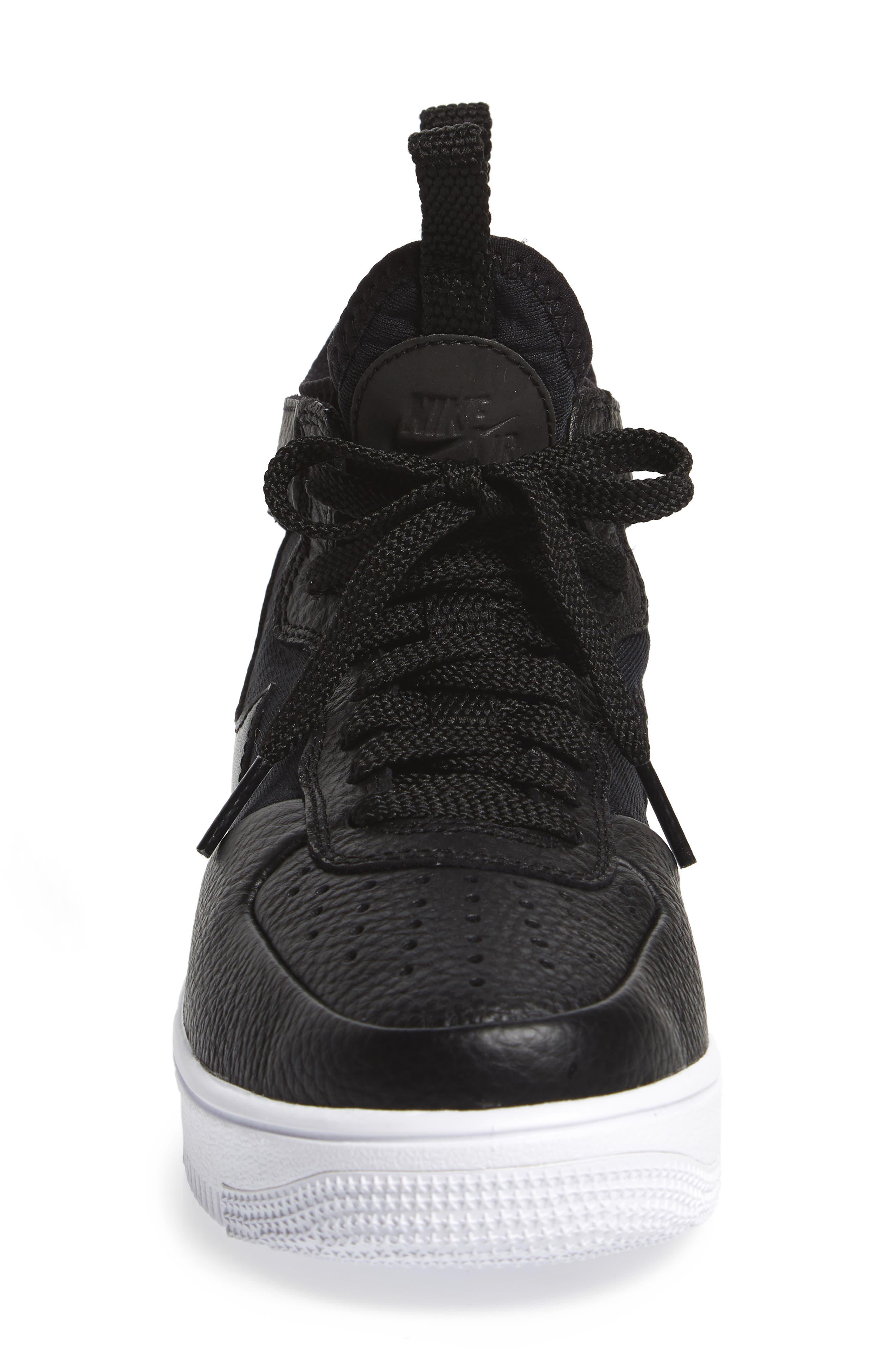 Air Force 1 Ultraforce Mid Sneaker,                             Alternate thumbnail 4, color,                             Black/ Black