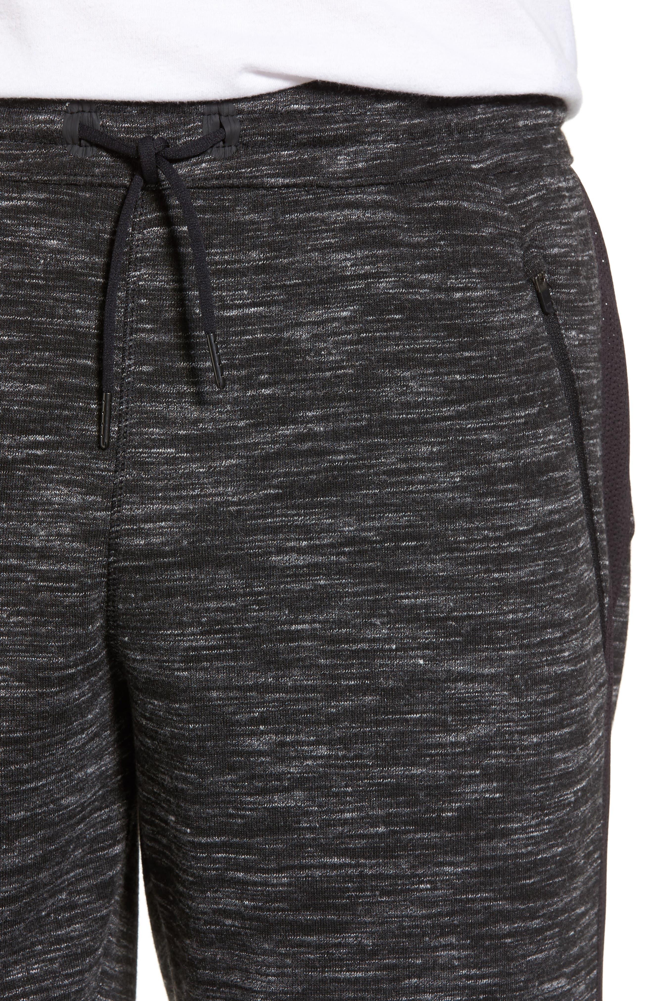 Neptune Terrycloth Shorts,                             Alternate thumbnail 4, color,                             Black Oxide Melange