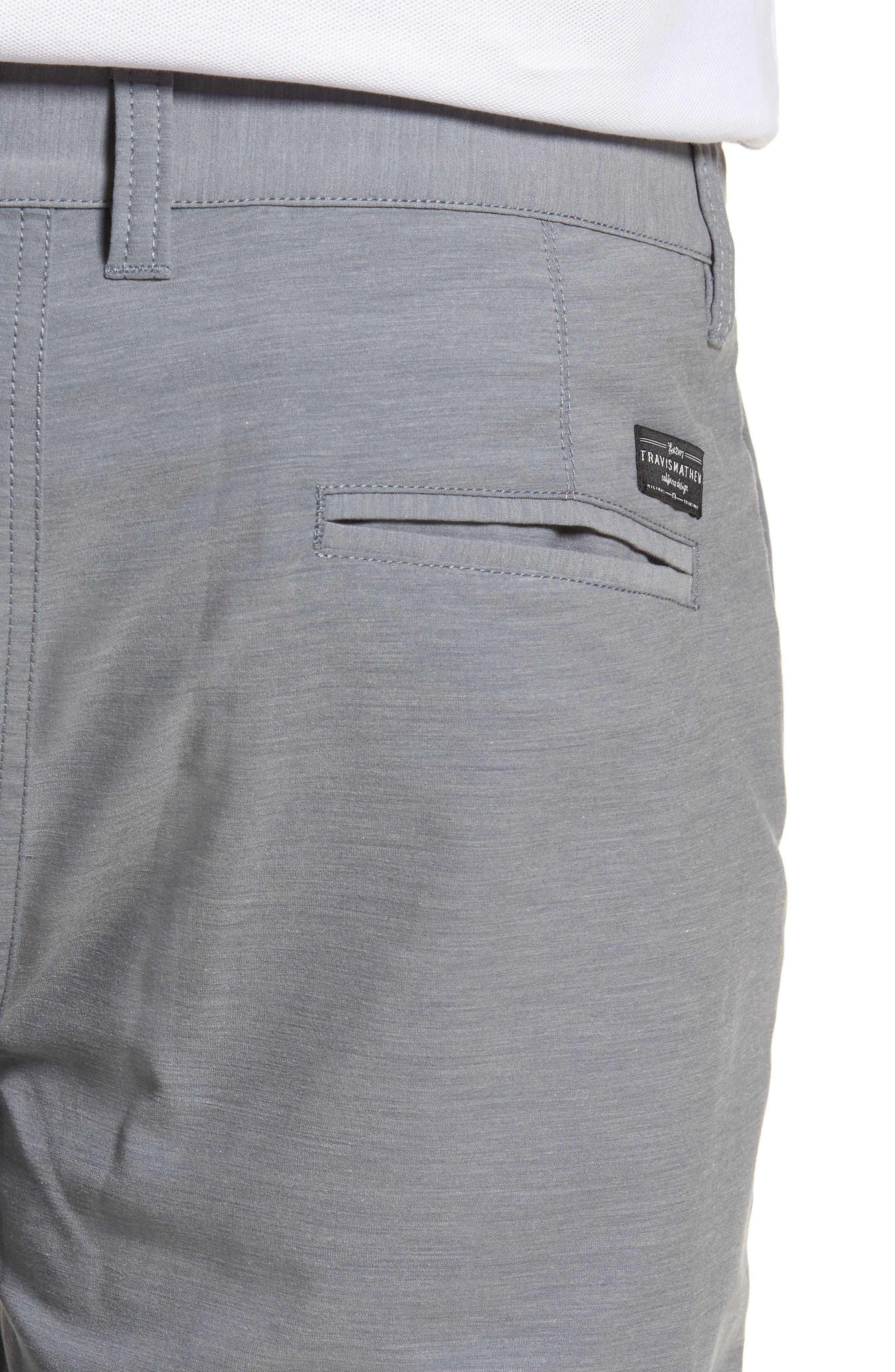 La Paz Regular Fit Slub Knit Shorts,                             Alternate thumbnail 4, color,                             Sharkskin