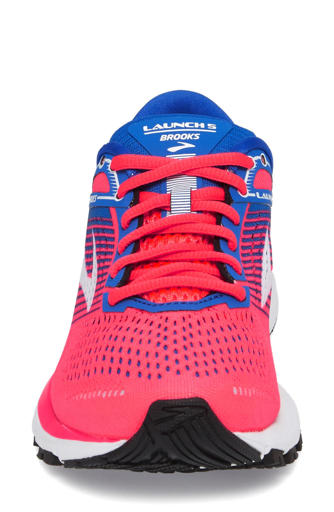 Launch 5 Running Shoe,                             Alternate thumbnail 4, color,                             Pink/ Blue/ White
