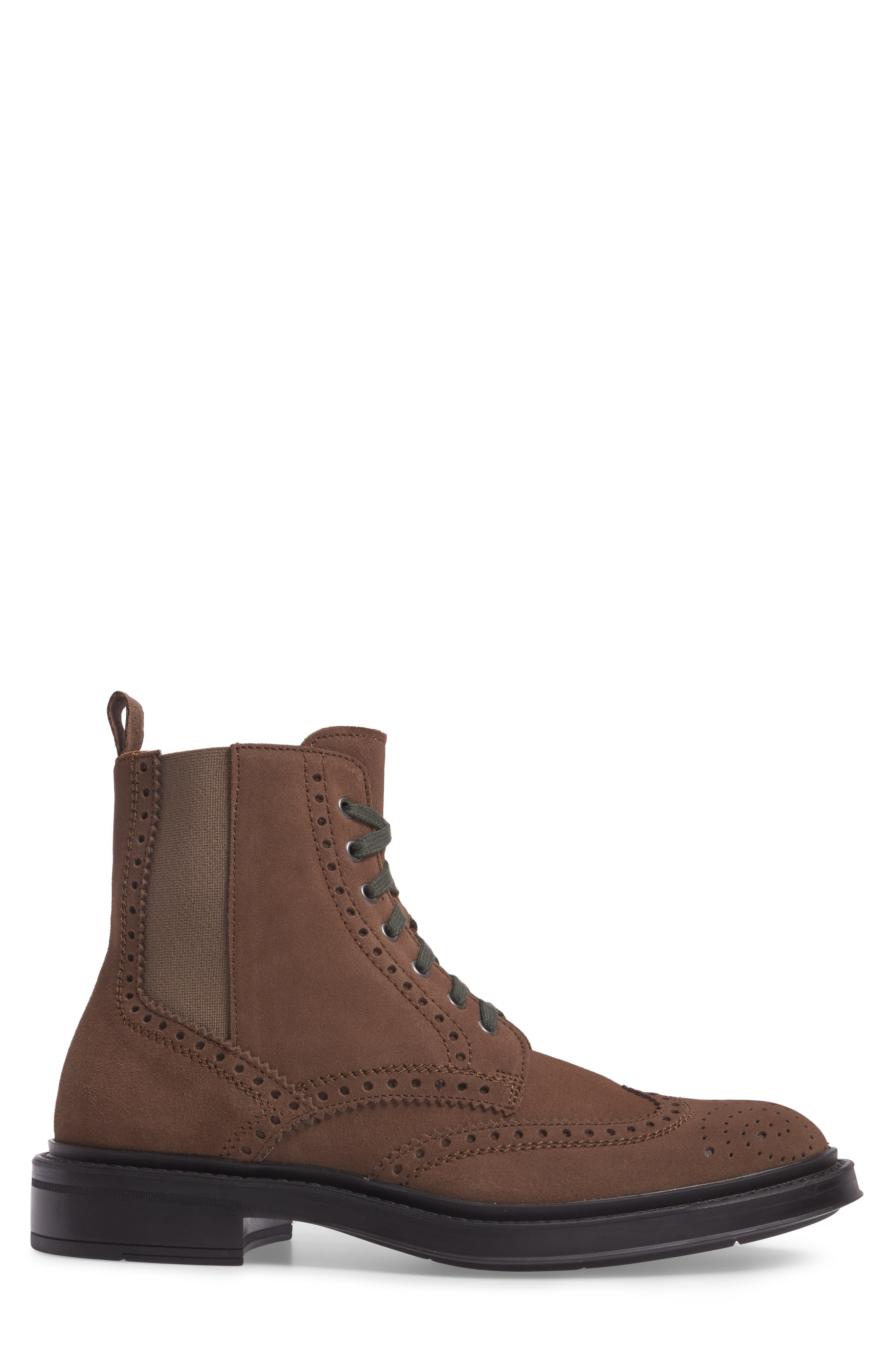 Lawrence Wingtip Boot,                             Alternate thumbnail 3, color,                             Dark Taupe