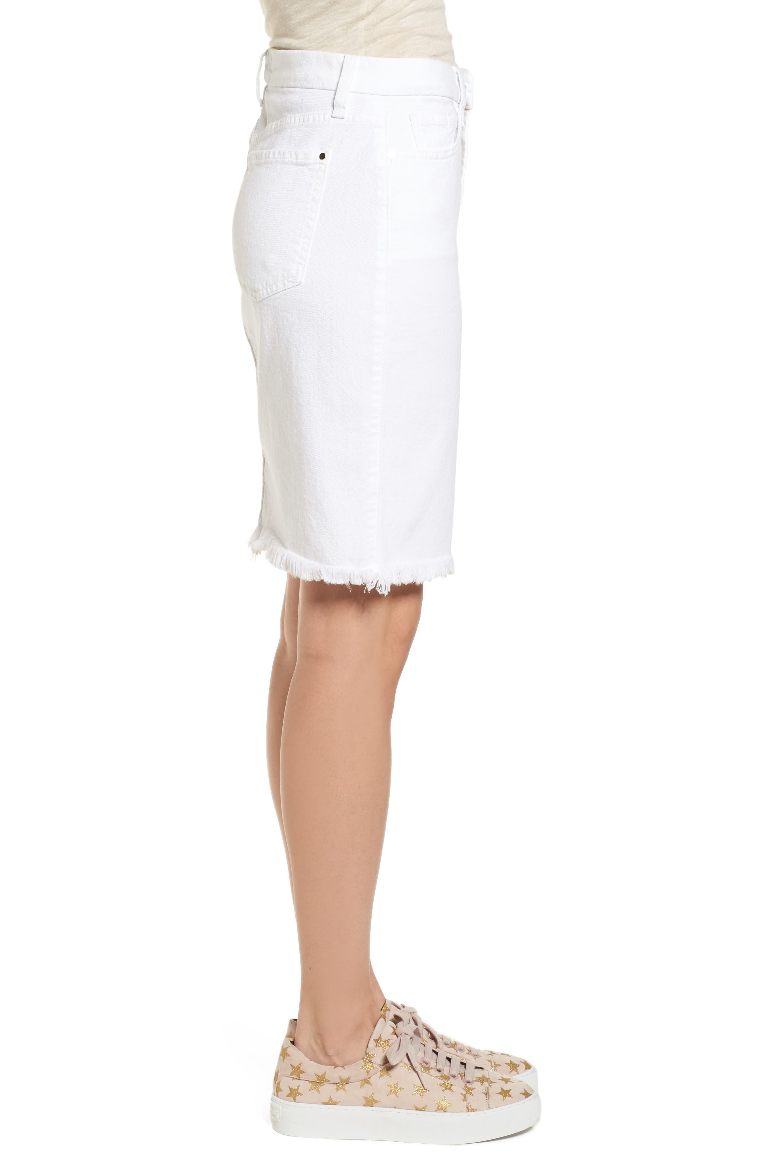 Alternate Image 3  - Jen7 Frayed Hem Denim Pencil Skirt