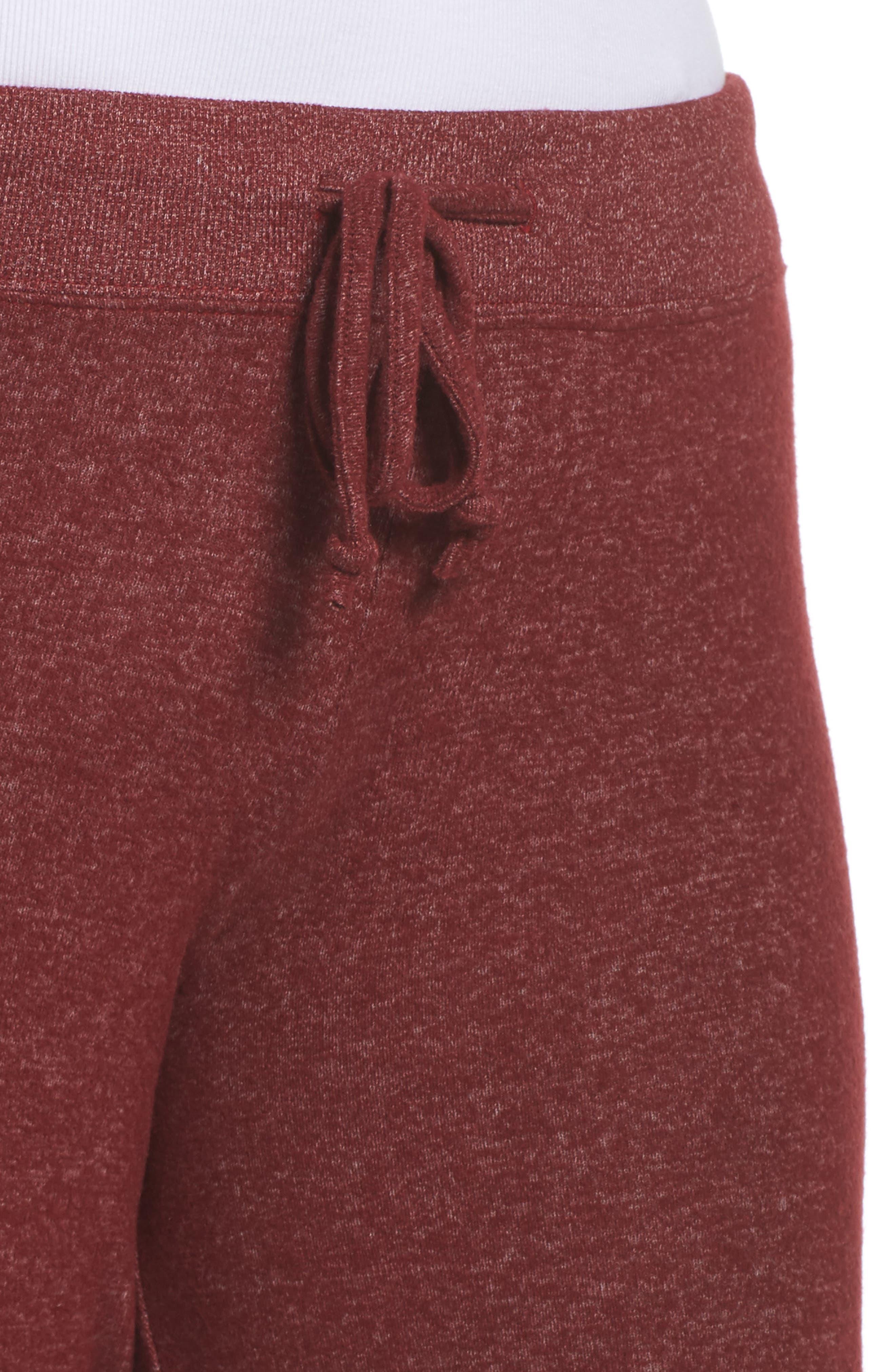 'Best Boyfriend' Brushed Hacci Lounge Pants,                             Alternate thumbnail 5, color,                             Red Grape
