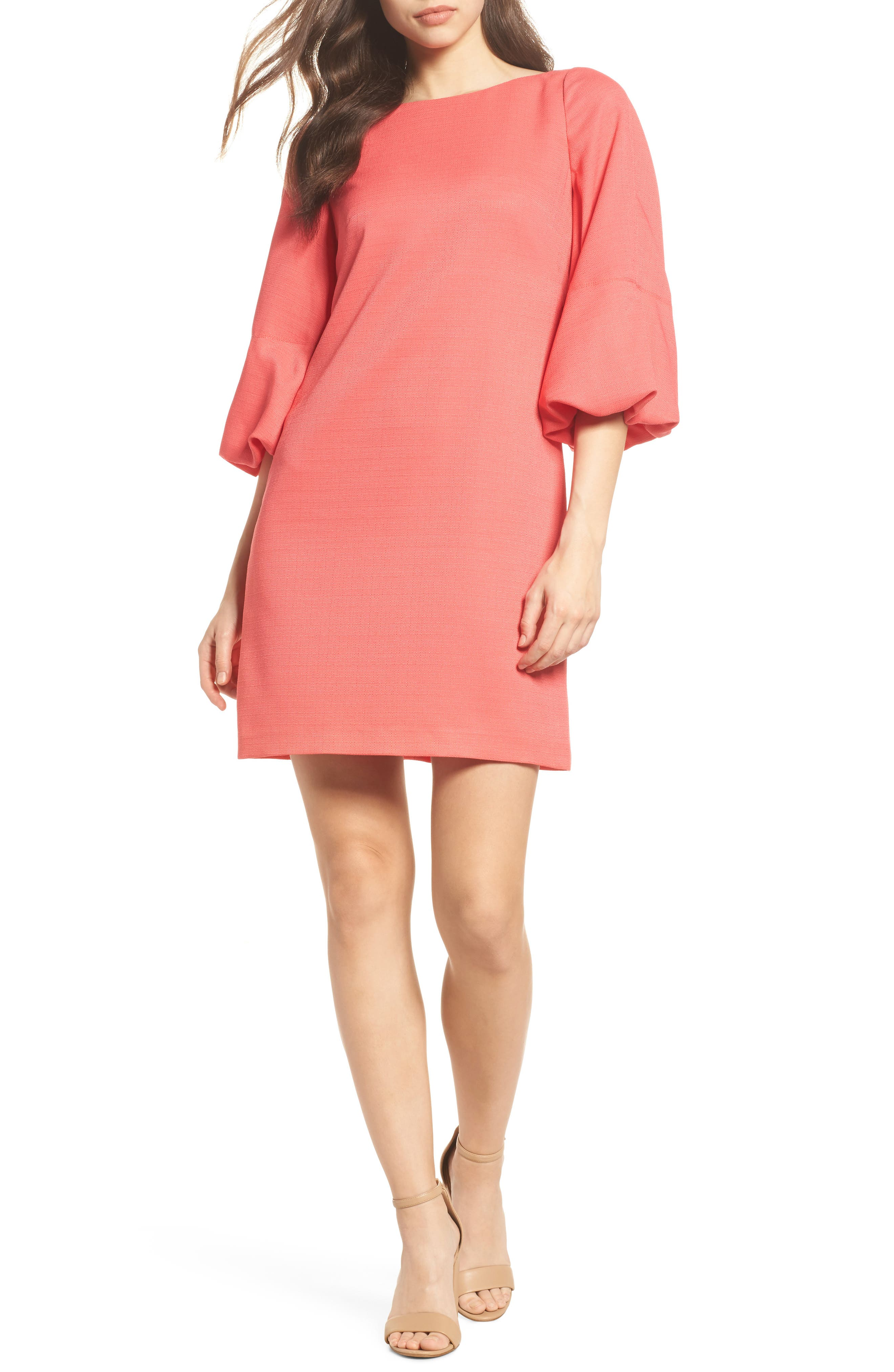Alternate Image 1 Selected - Eliza J Puff Sleeve Shift Dress
