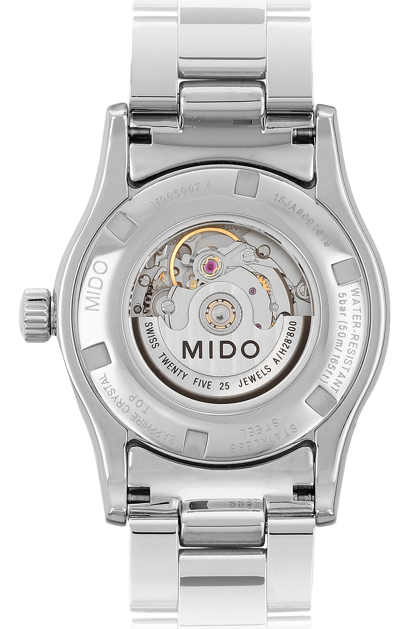 Multifort Automatic Bracelet Watch, 31mm,                             Alternate thumbnail 2, color,                             Silver/ Mop/ Silver