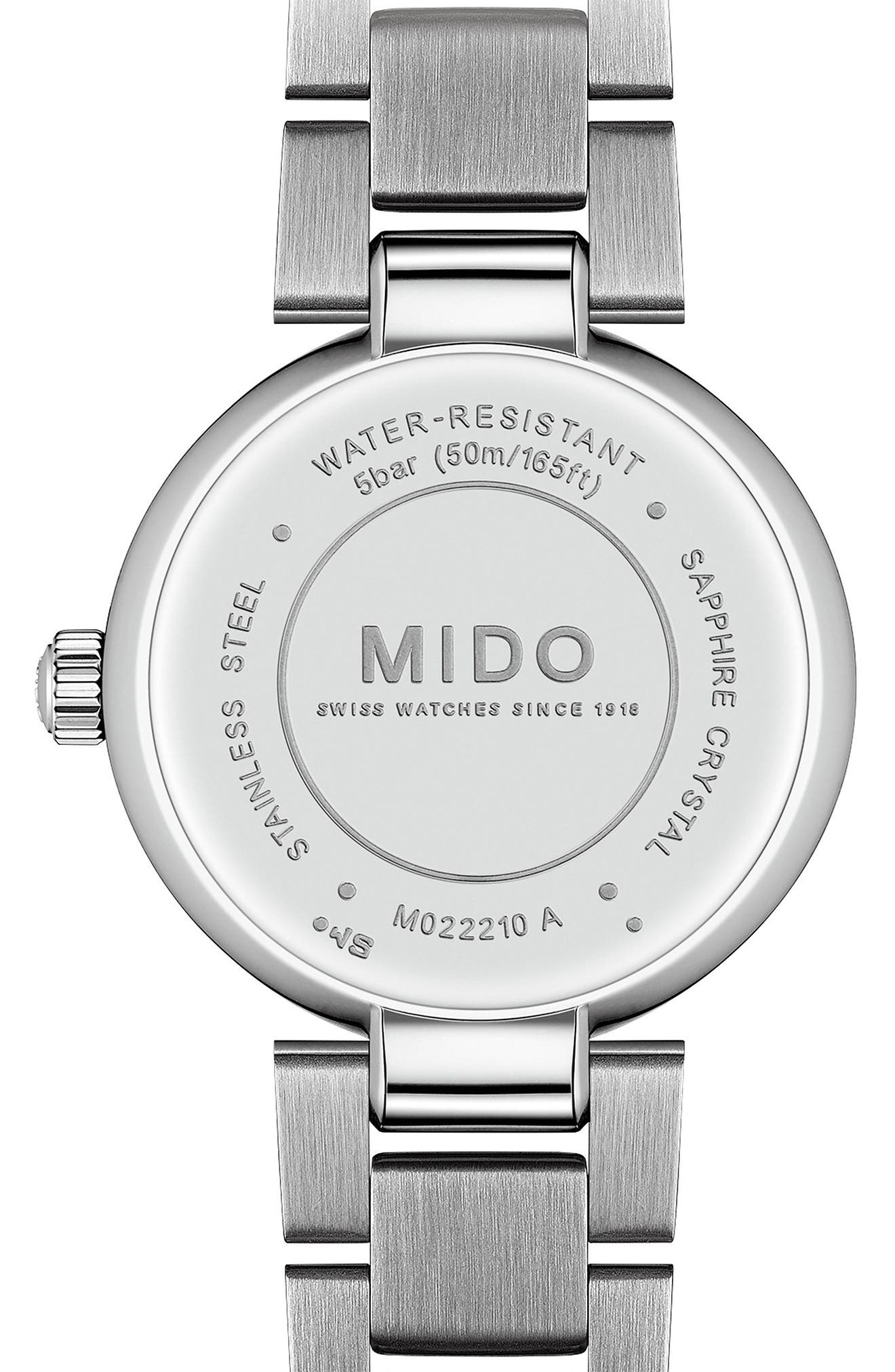 Baroncelli Diamond Bracelet Watch, 28mm,                             Alternate thumbnail 2, color,                             Silver/ Chrome/ Silver