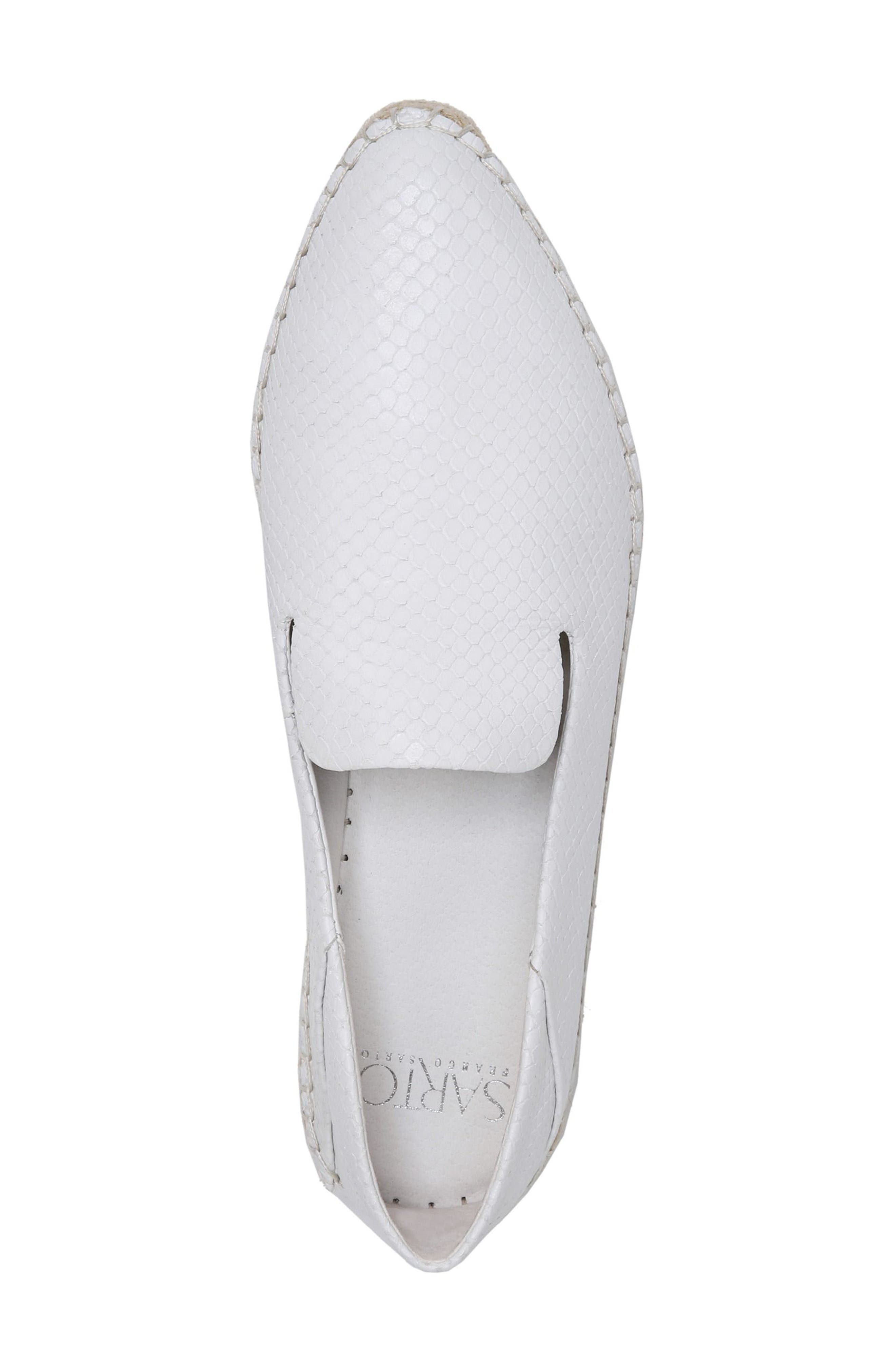 Eviana Espadrille Loafer,                             Alternate thumbnail 5, color,                             Blanca Snake Print Leather