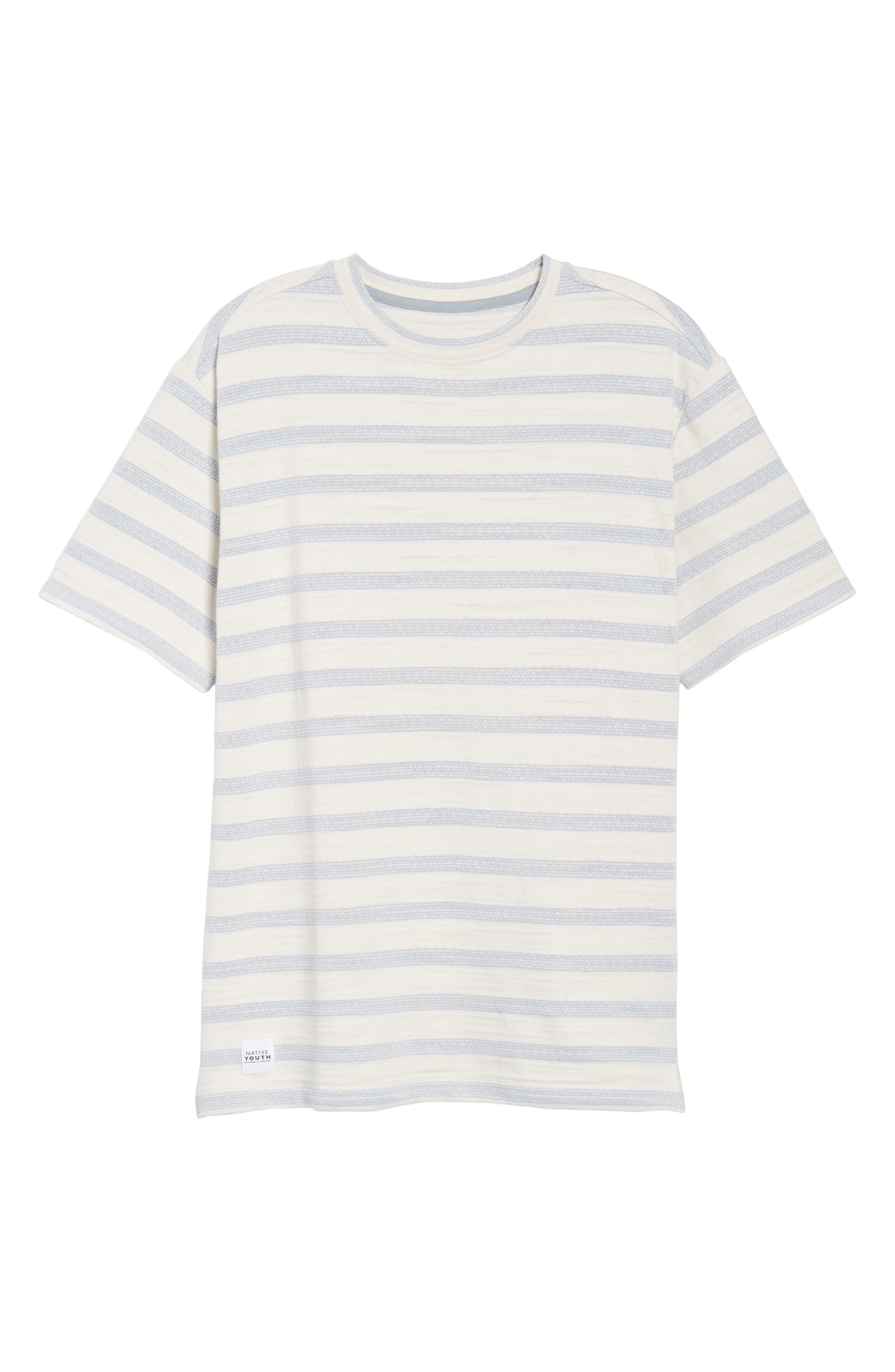 Waves T-Shirt,                             Alternate thumbnail 6, color,                             Off White