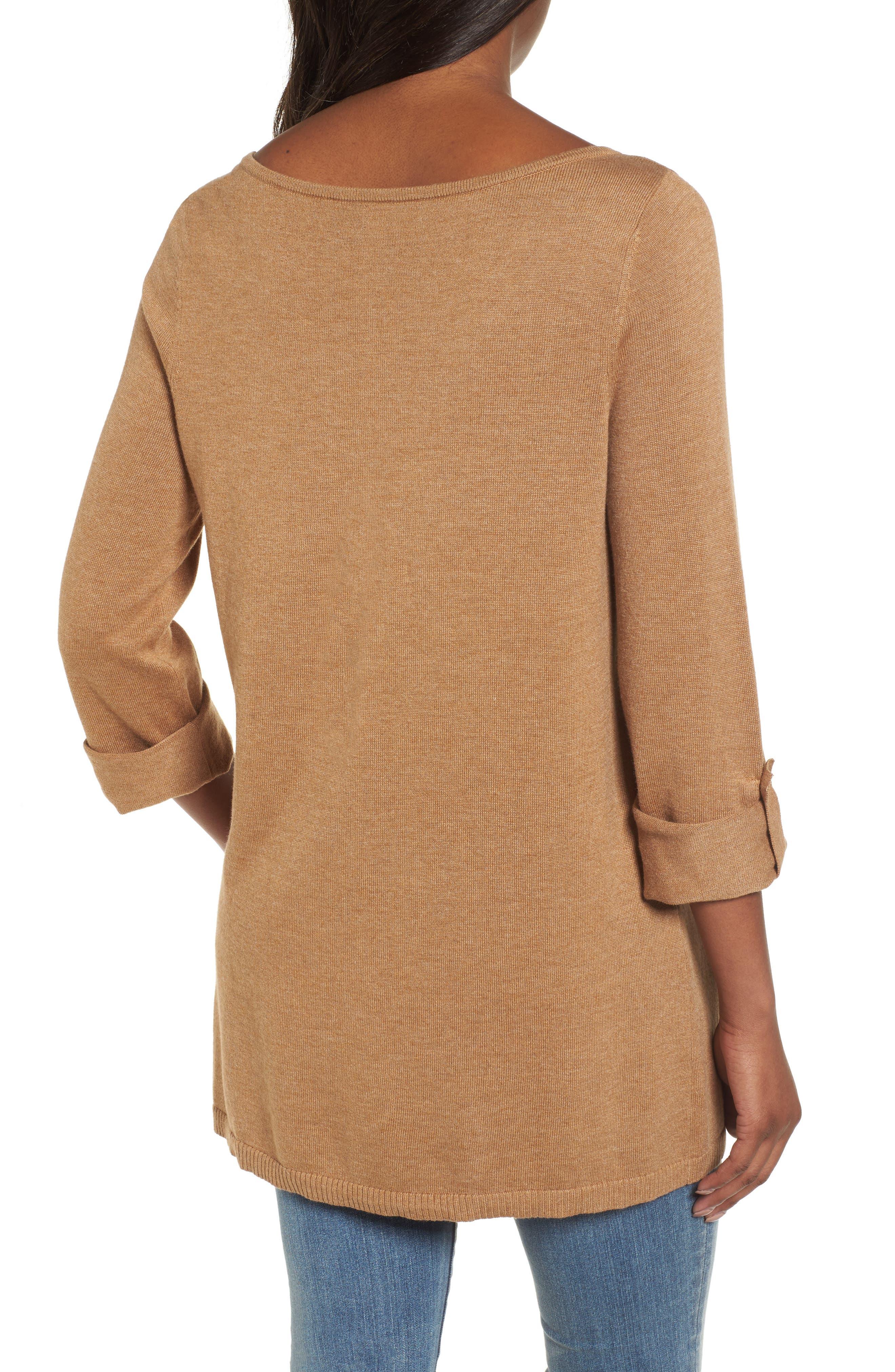 Alternate Image 2  - Caslon® Knit Tunic (Regular & Petite)