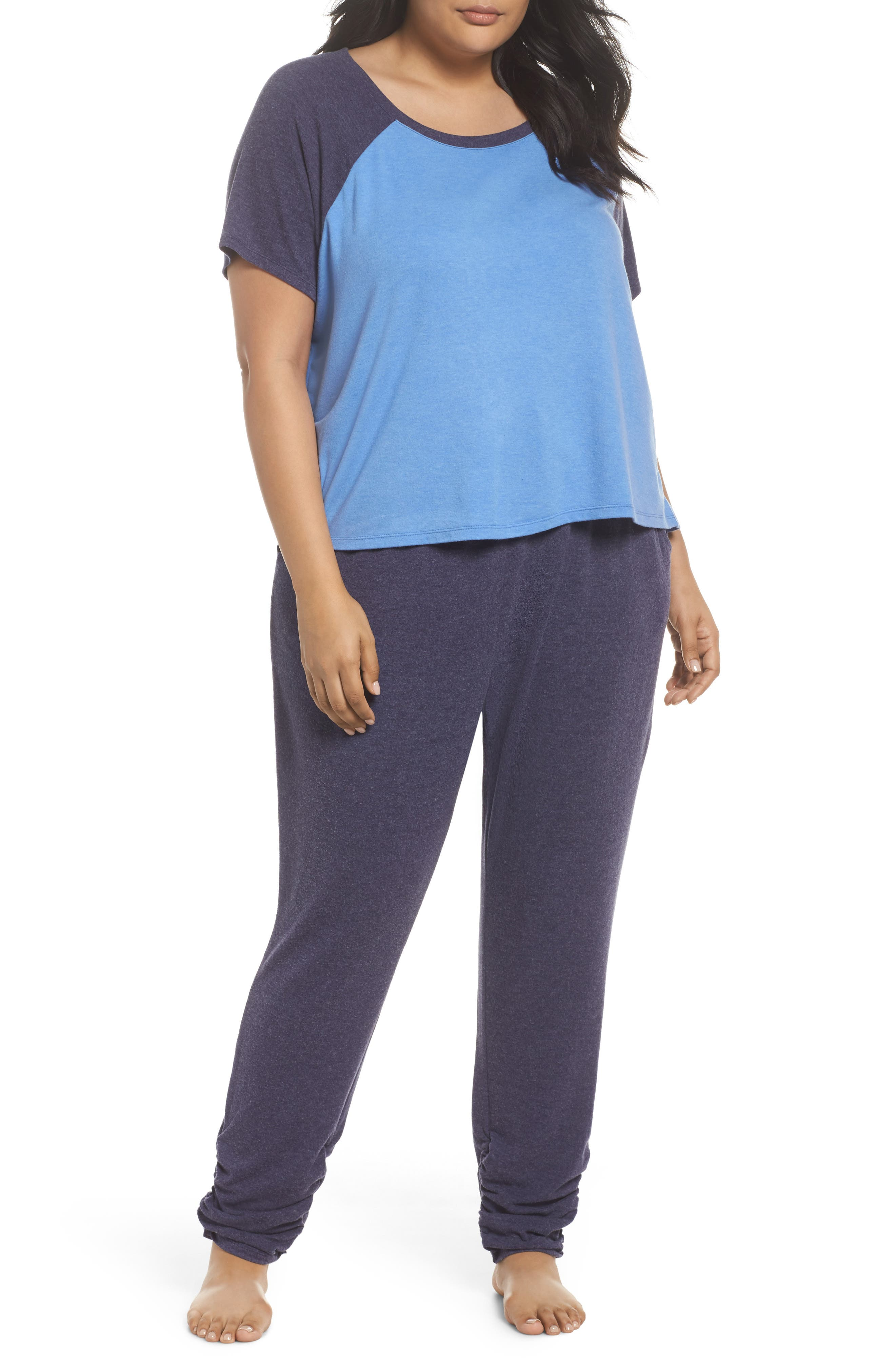 Alternate Image 1 Selected - Make + Model Cloud 9 Pajamas (Plus Size)