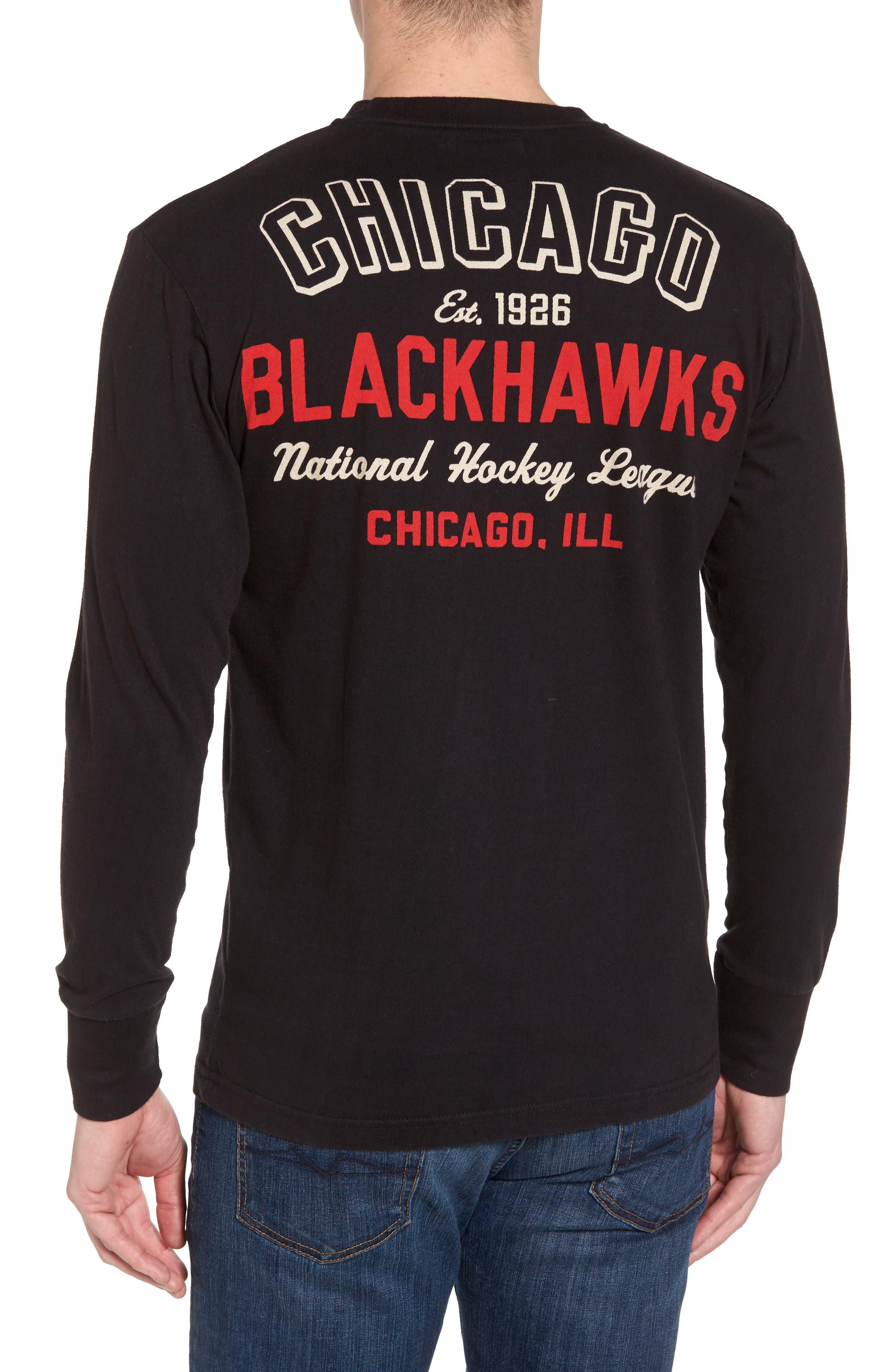 Gresham Chicago Blackhawks T-Shirt,                             Alternate thumbnail 2, color,                             Black