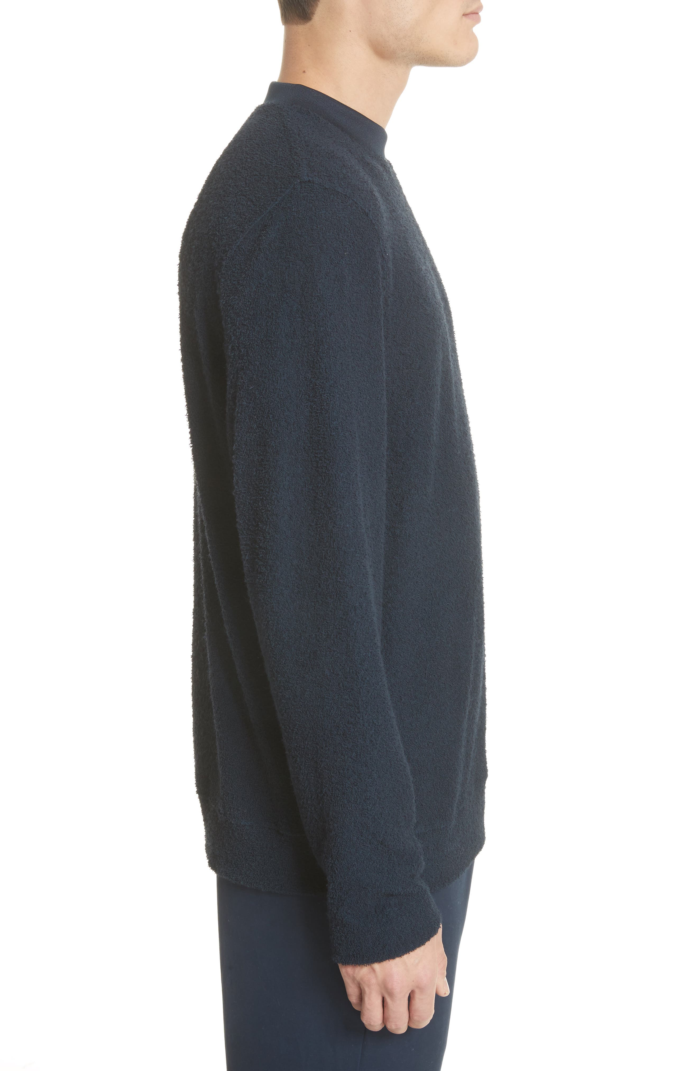 Rask Crewneck Sweatshirt,                             Alternate thumbnail 3, color,                             Dark Navy