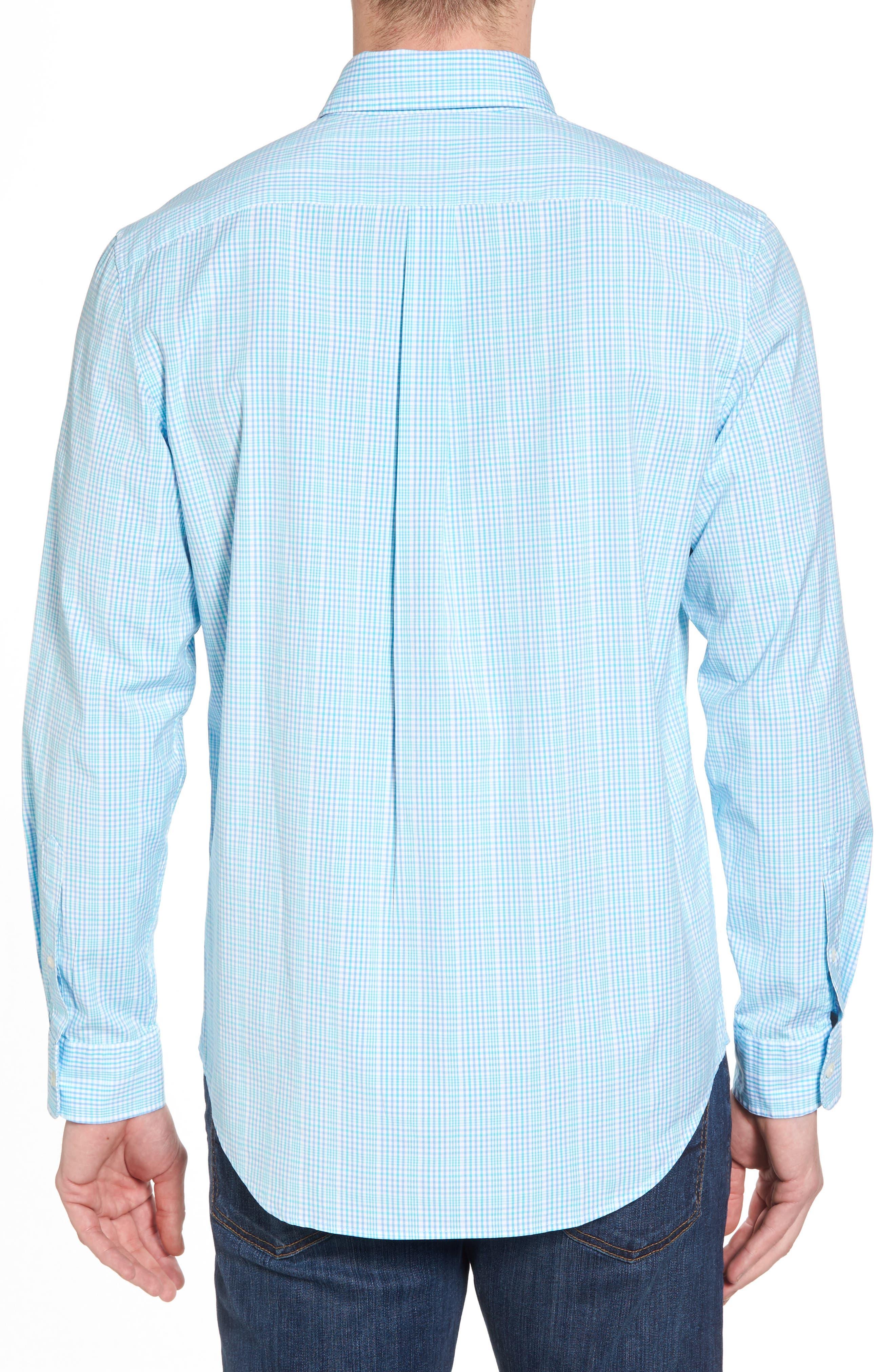 Rolling Harbor Classic Fit Plaid Sport Shirt,                             Alternate thumbnail 2, color,                             Turquoise