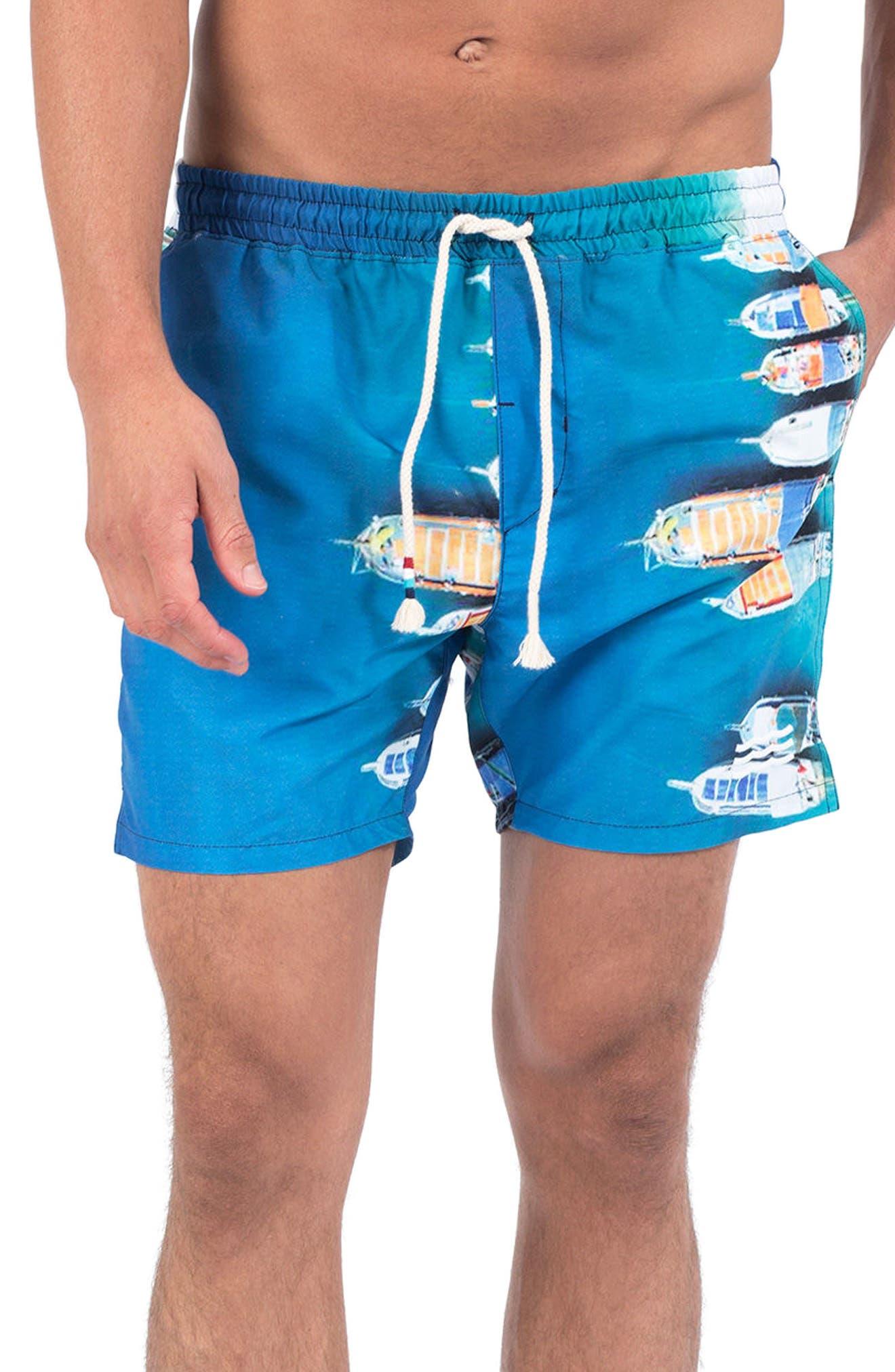 Buena Vista Bay Swim Shorts,                             Main thumbnail 1, color,                             Buena Vista