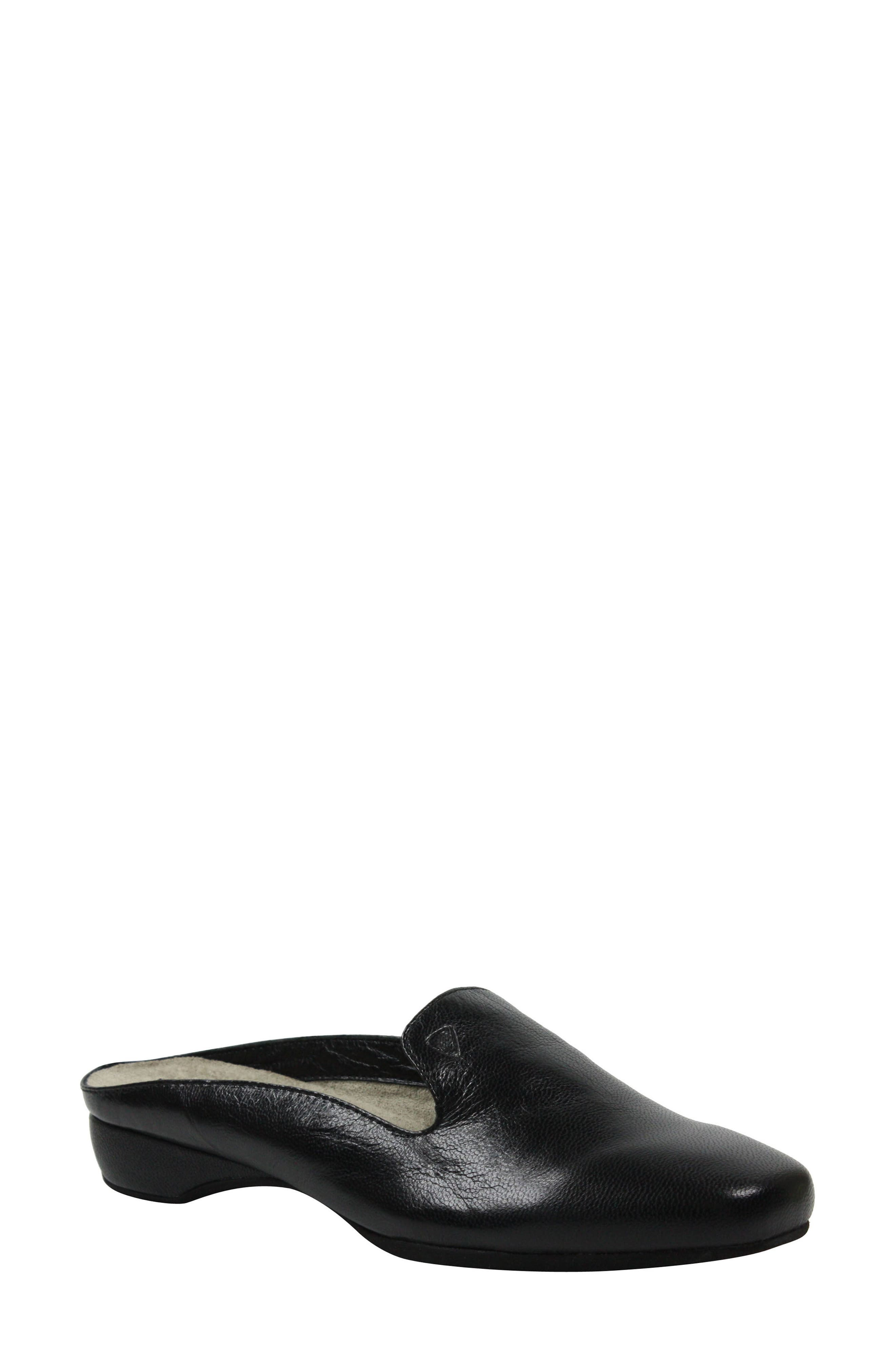 Chesir Mule,                             Main thumbnail 1, color,                             Black Leather