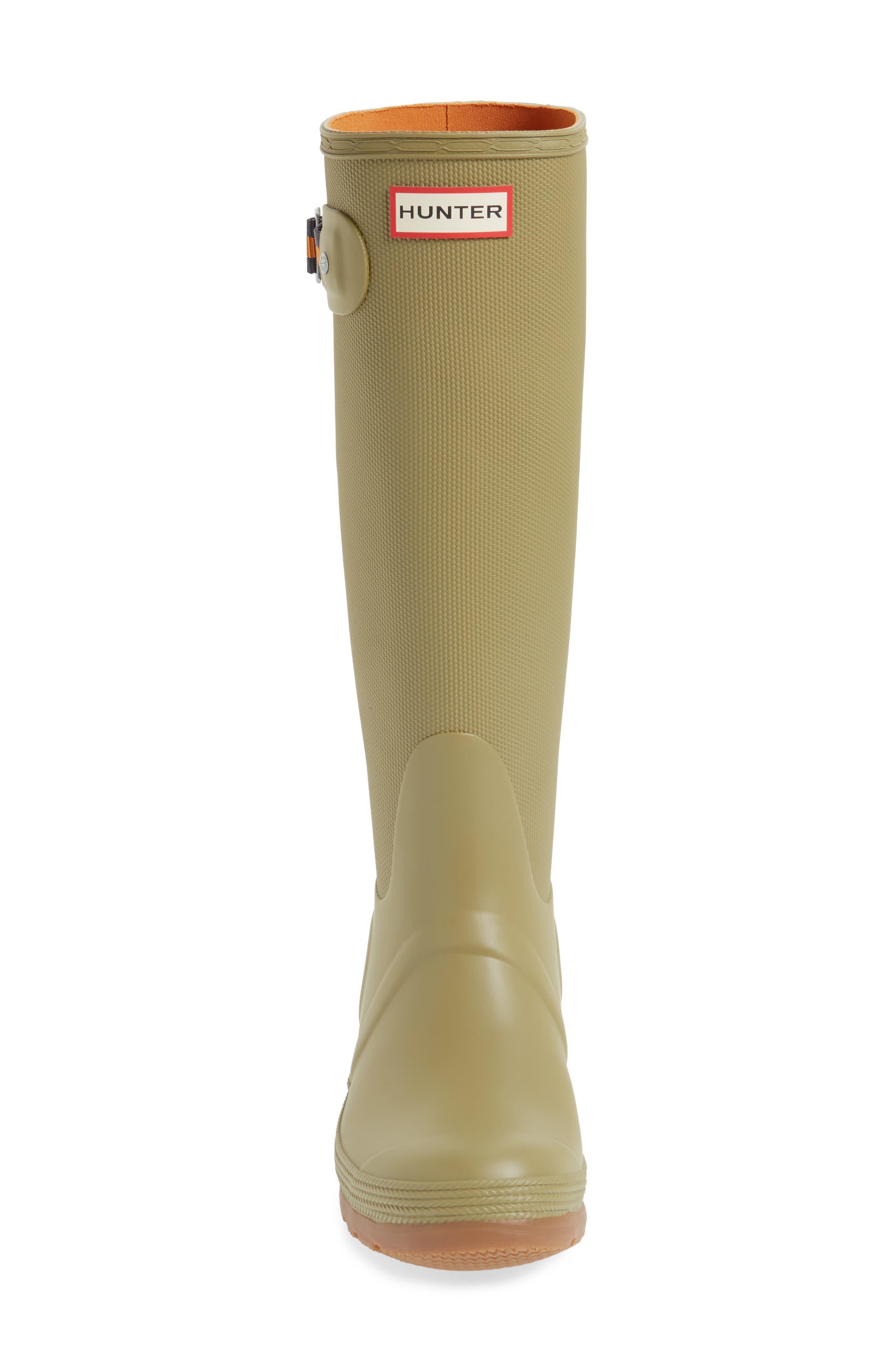 Original Sissinghurst Tall Rain Boot,                             Alternate thumbnail 4, color,                             Sage/ Moor Green