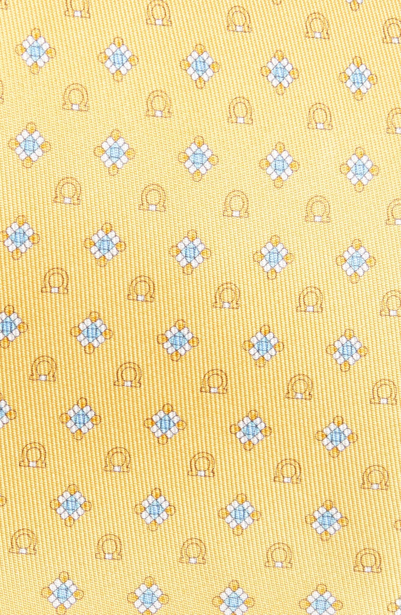 Edison Medallion Silk Tie,                             Alternate thumbnail 2, color,                             Yellow