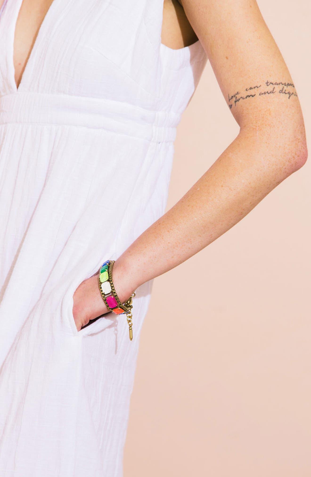 Scarlet Mixed Jewel Bracelet,                             Alternate thumbnail 2, color,                             Pink Multi