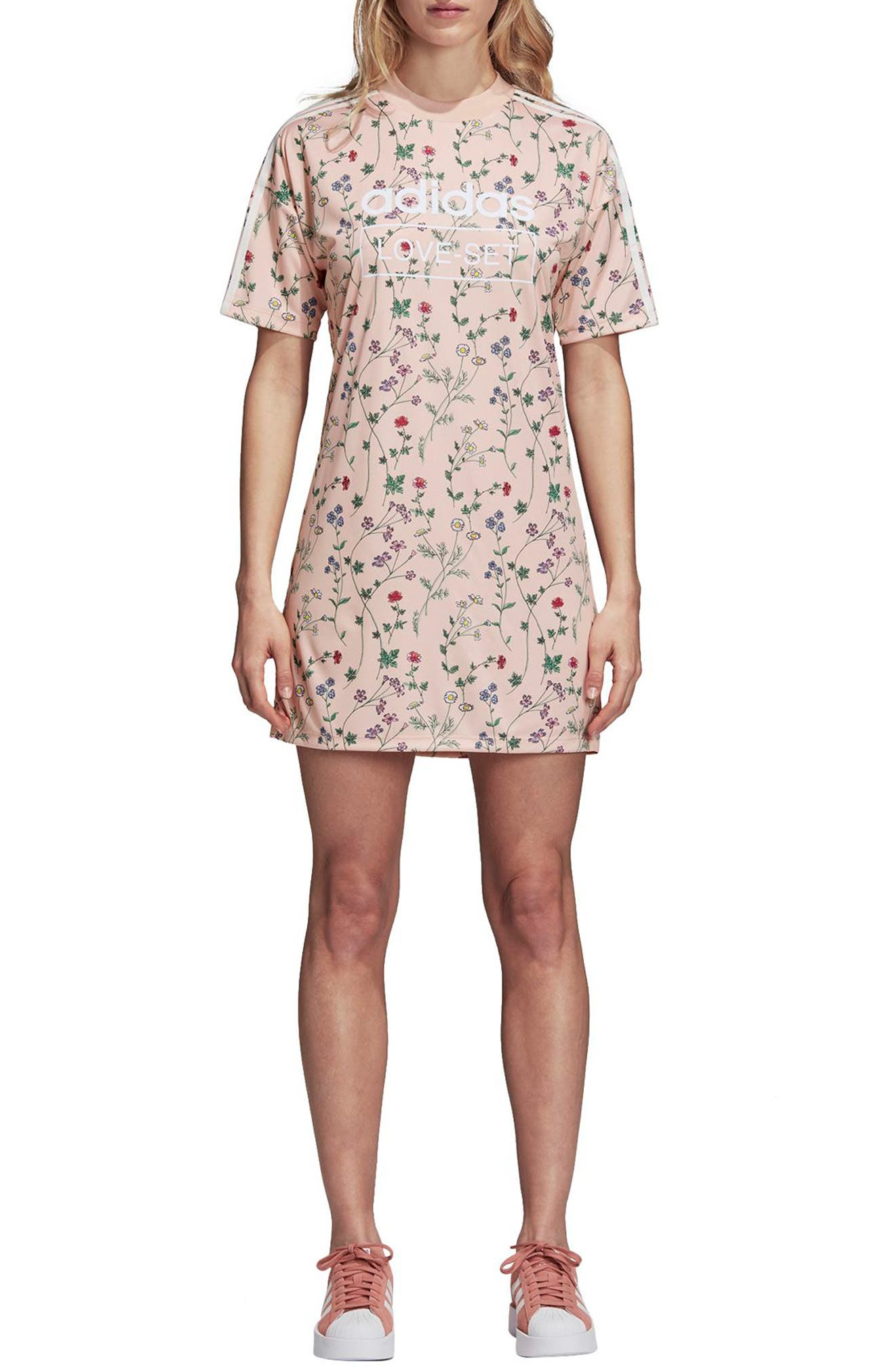 Originals Floral Graphic Dress,                             Main thumbnail 1, color,                             Pink - Flower Aop