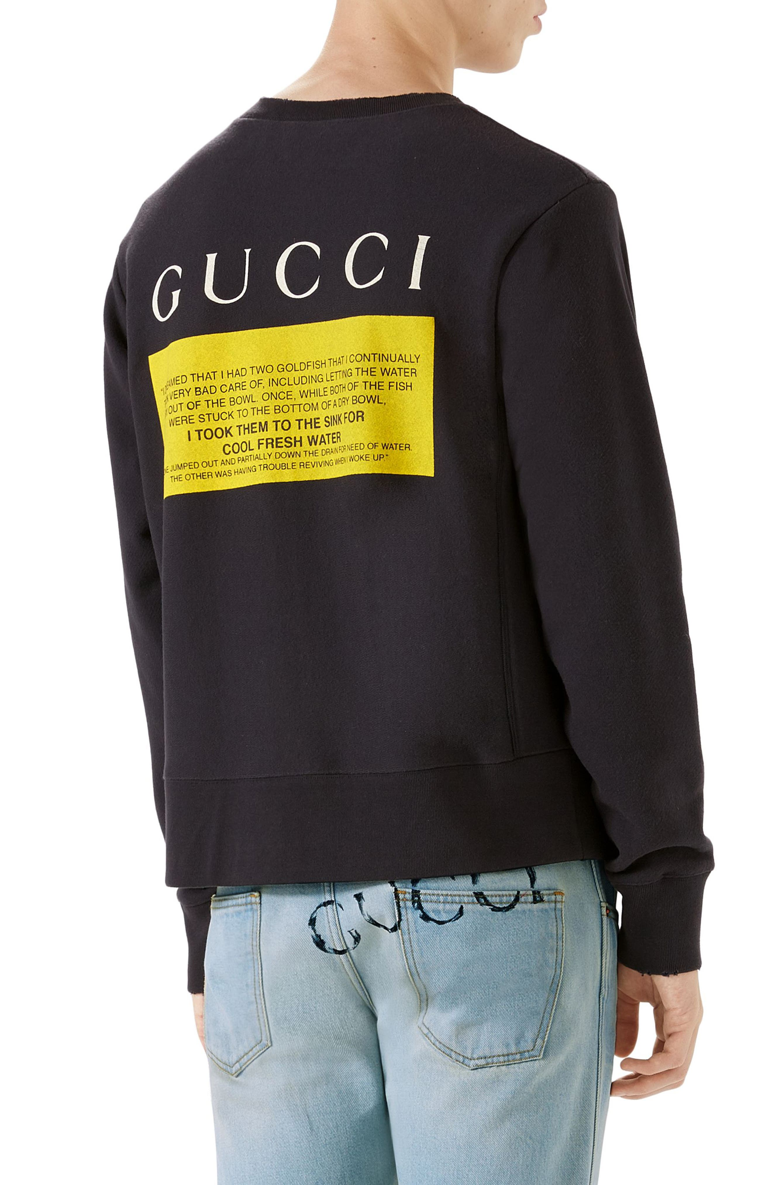 Alternate Image 2  - Gucci Black Cat Graphic Sweatshirt
