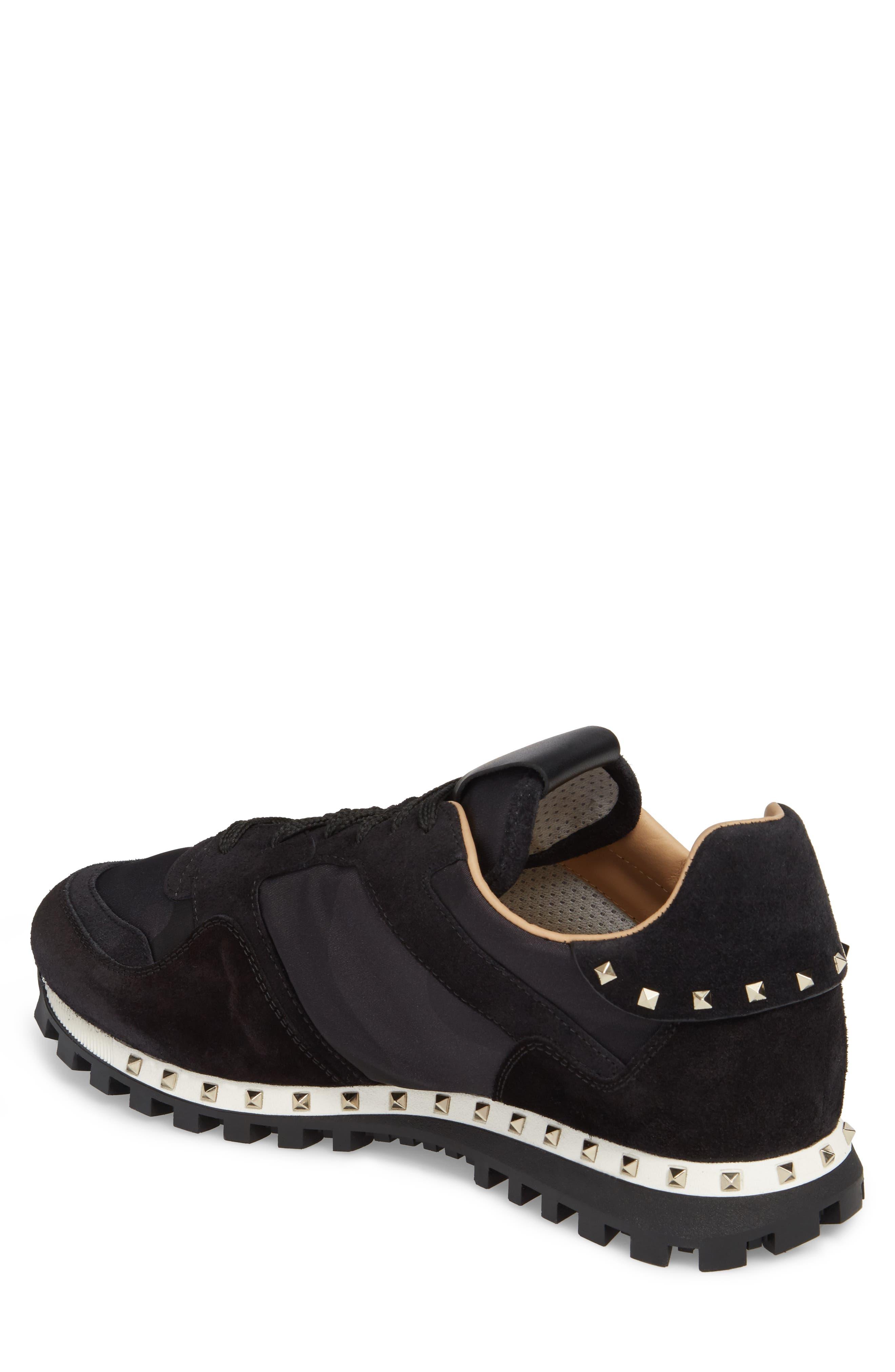 Alternate Image 2  - VALENTINO GARAVANI Camo Rockstud Sneaker (Men)