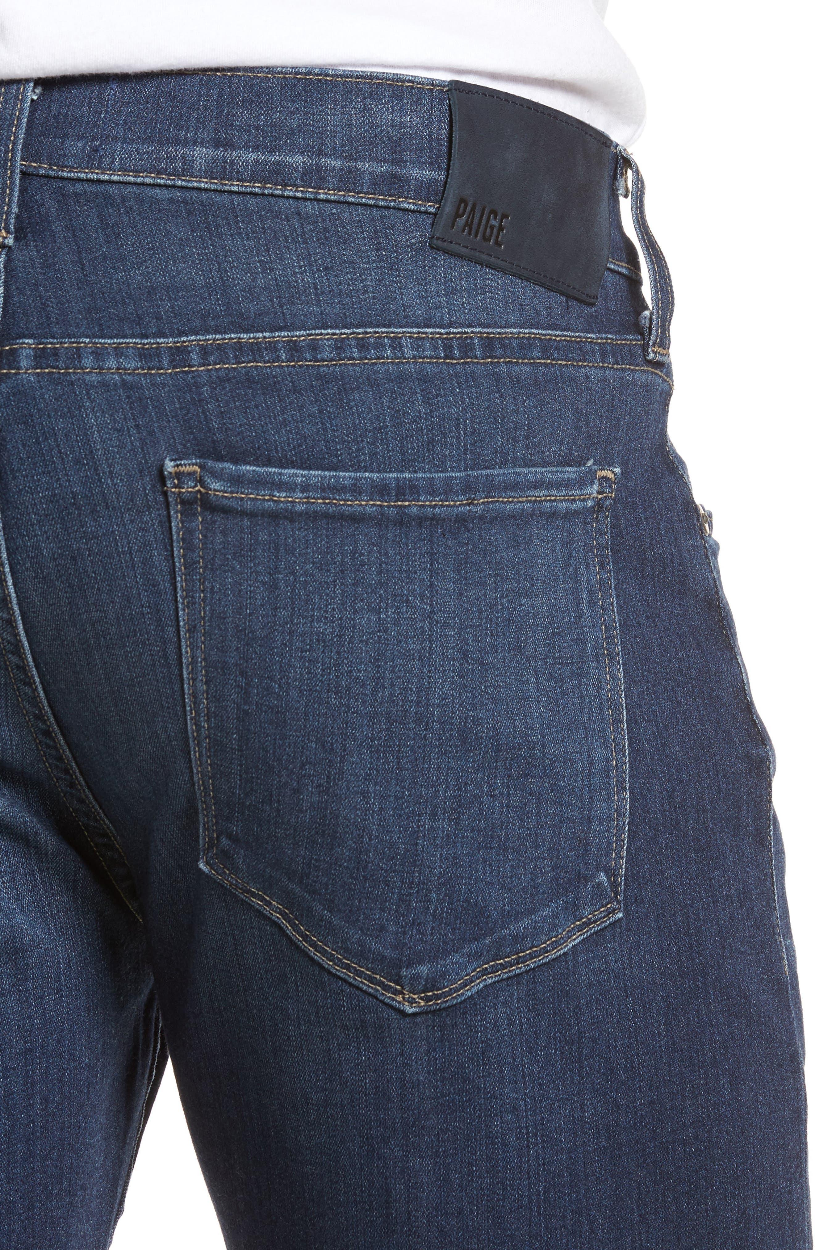 Transcend - Federal Slim Straight Leg Denim Shorts,                             Alternate thumbnail 4, color,                             Leo