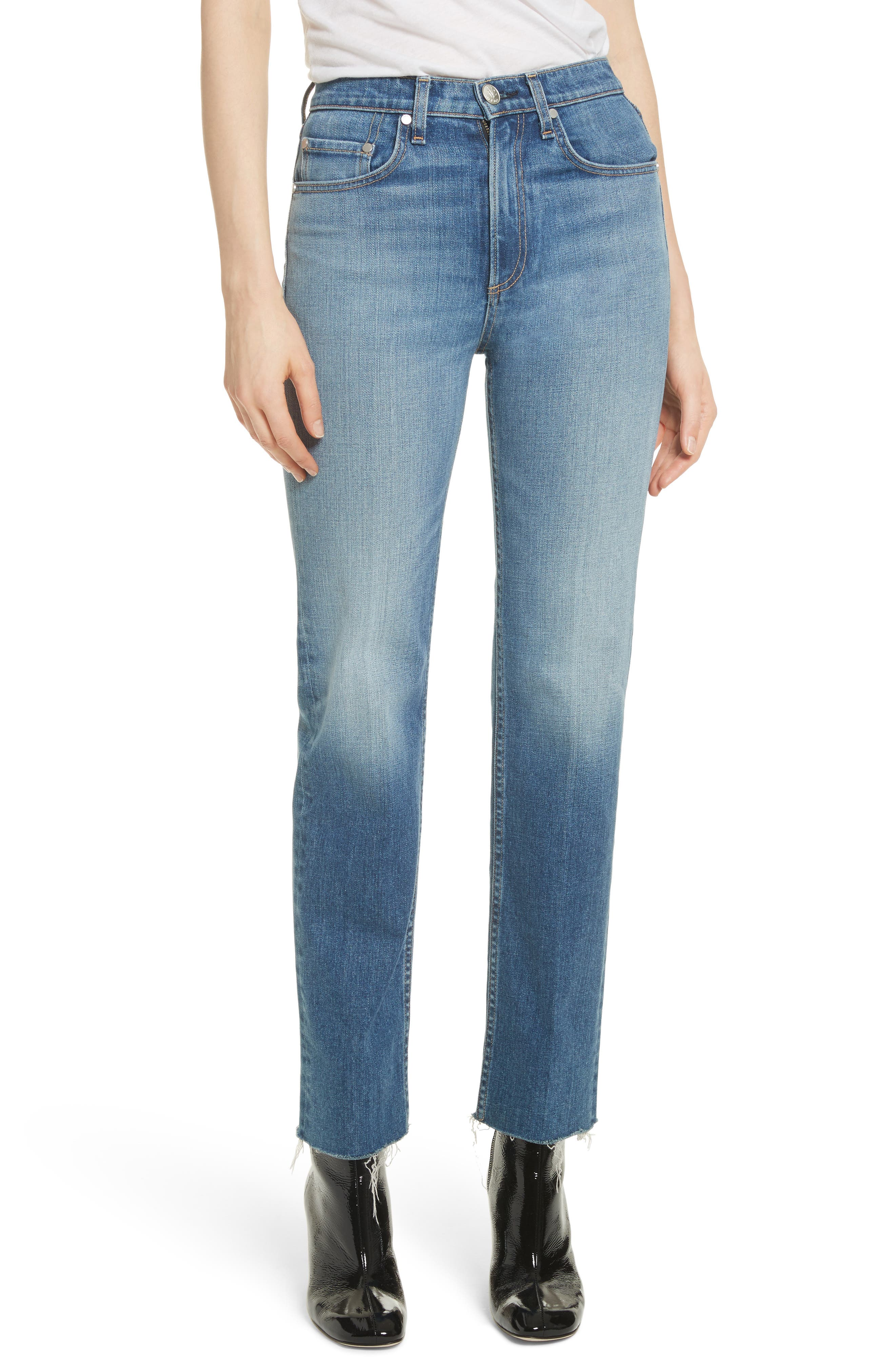 rag & bone/JEAN Straight Leg Jeans (Rovers)