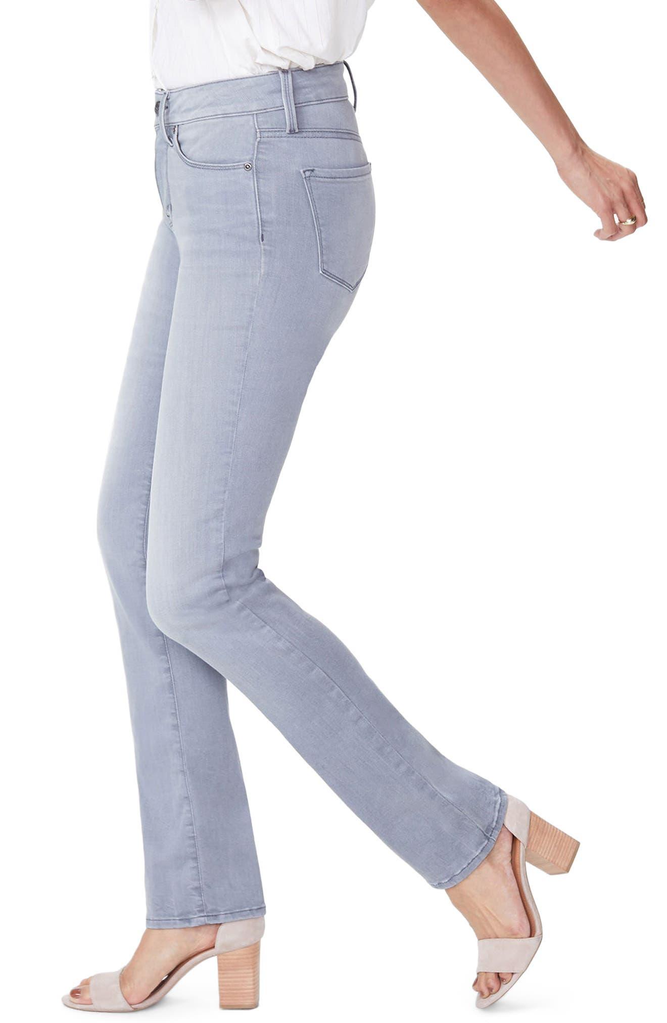 Marilyn Stretch Straight Leg Jeans,                             Alternate thumbnail 3, color,                             Carbon Beach