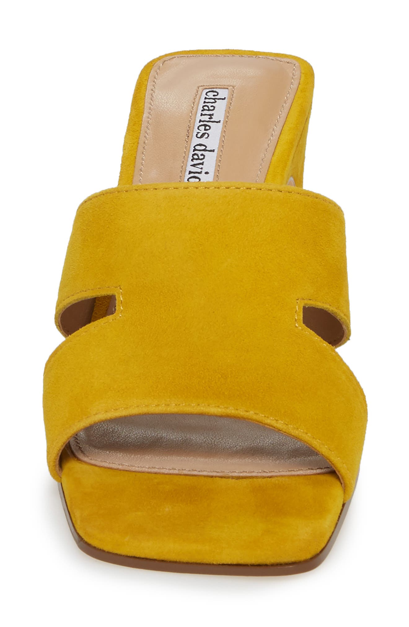 Harley Slide Sandal,                             Alternate thumbnail 4, color,                             Bright Yellow Suede