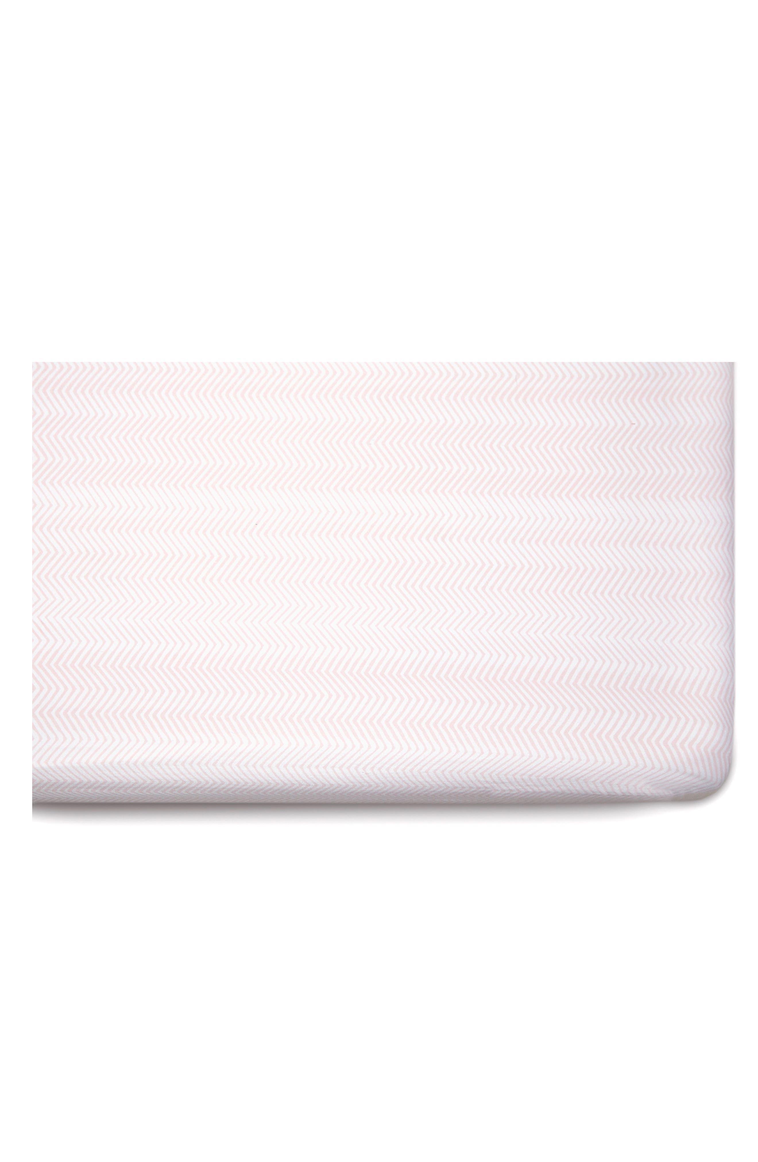 Flamingo & Zig-Zag 2-Pack Jersey Crib Sheets,                             Alternate thumbnail 4, color,                             Flamingo