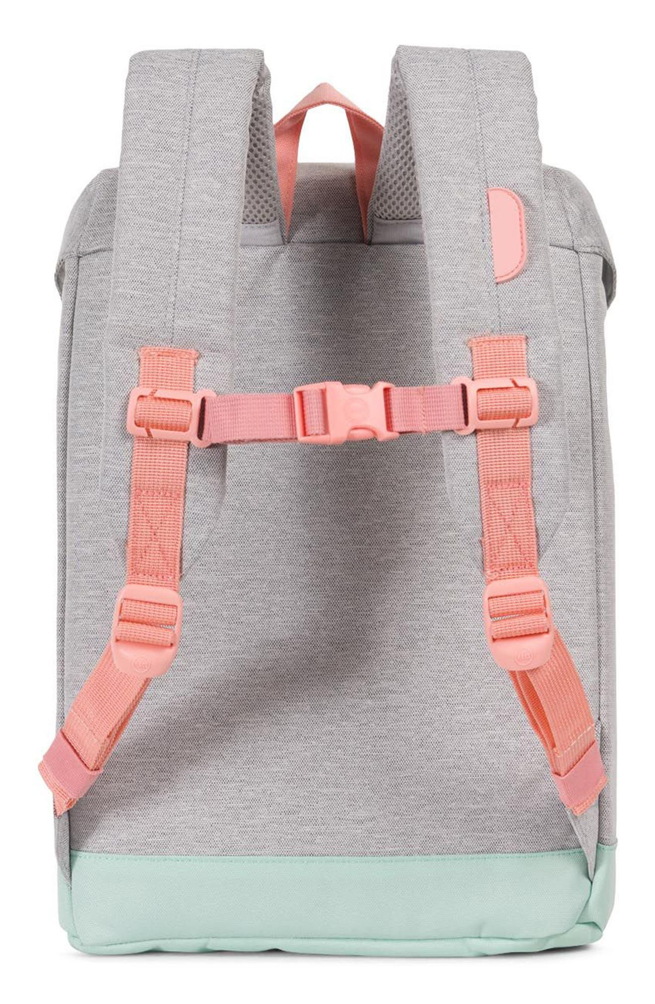 Retreat Backpack,                             Alternate thumbnail 3, color,                             Light Grey/ Yucca/ Peach