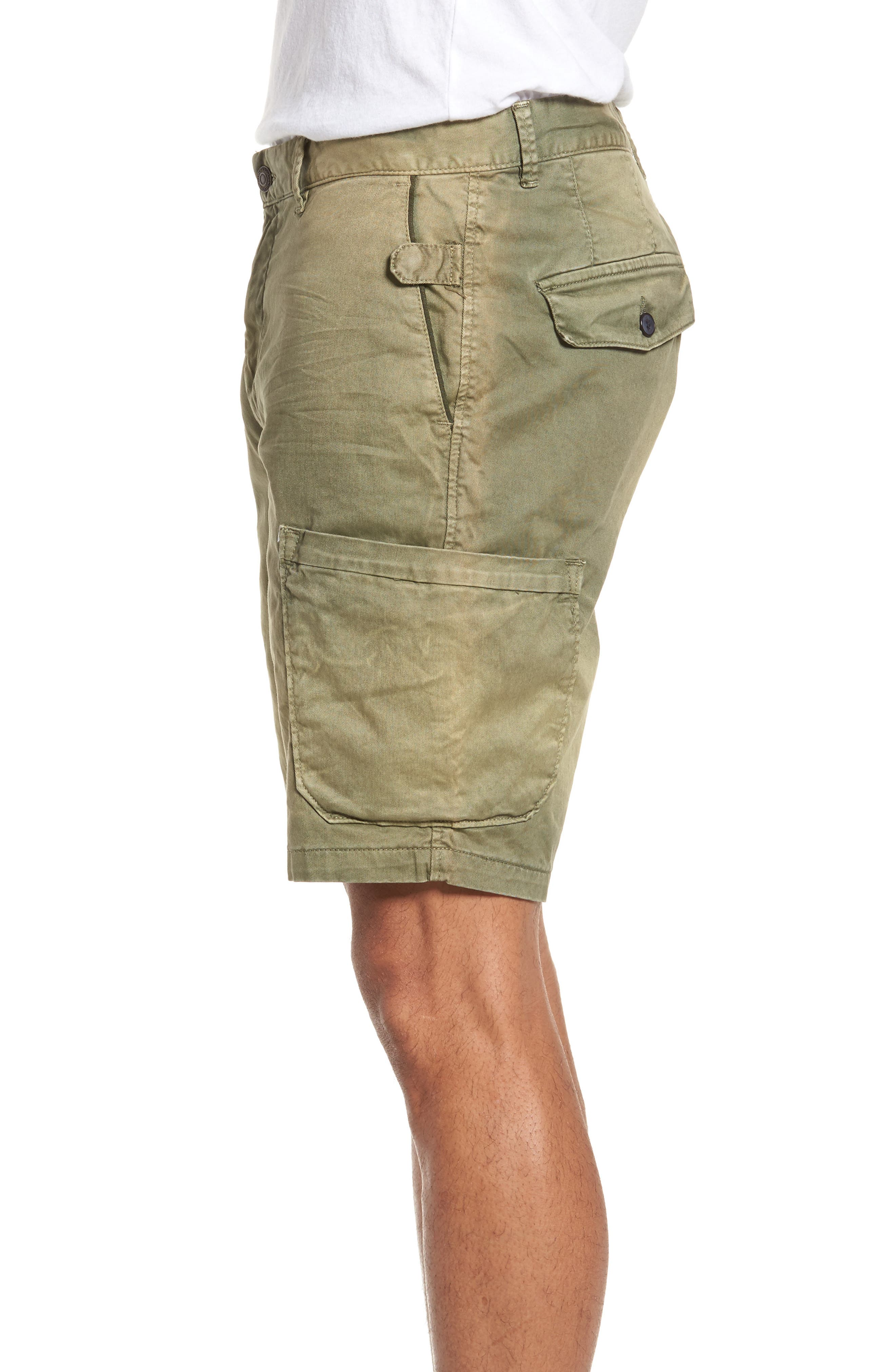 Washed Cargo Shorts,                             Alternate thumbnail 3, color,                             Army