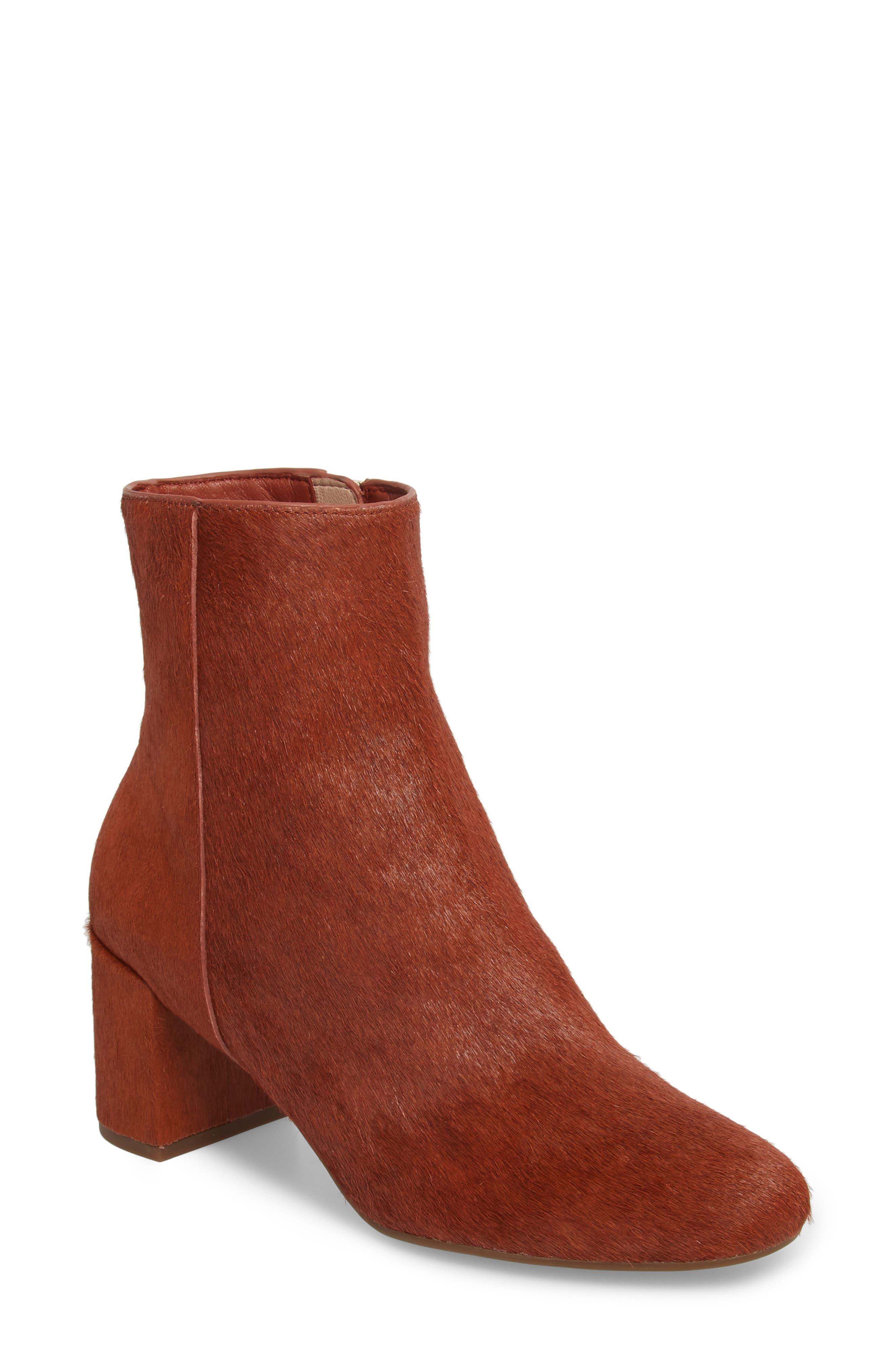 Taryn Rose Cassidy Genuine Calf Hair Block Heel Bootie (Women)