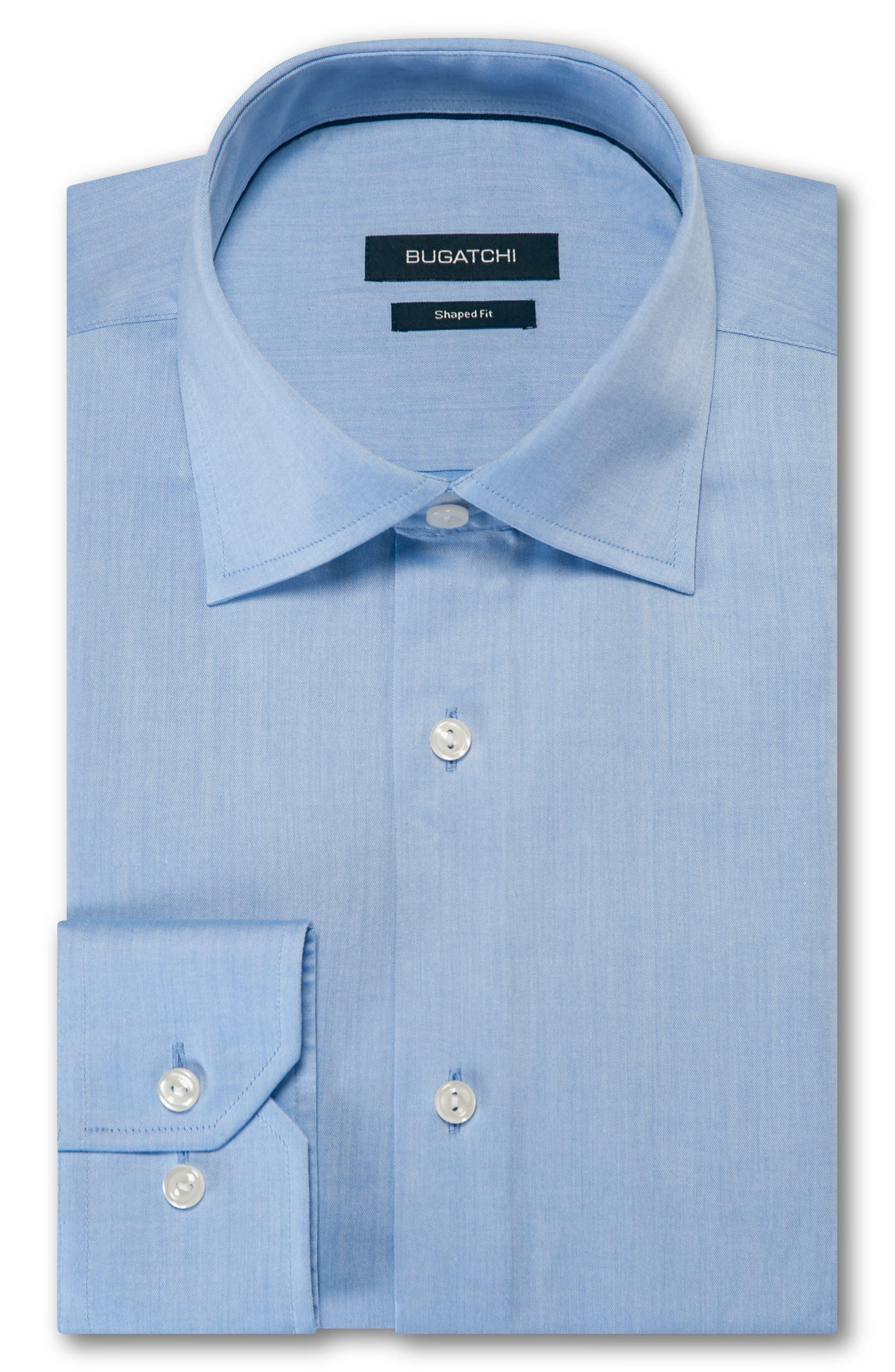 Trim Fit Solid Dress Shirt,                         Main,                         color, Classic Blue