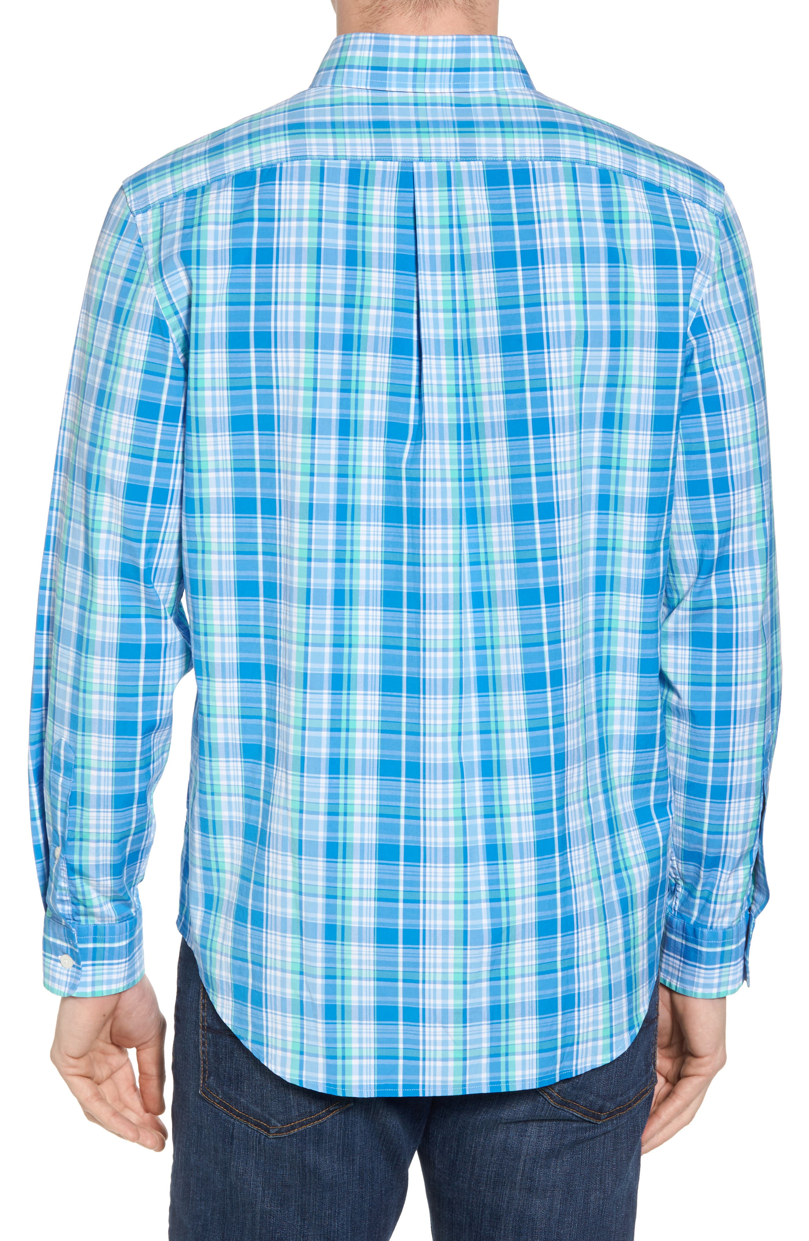 Bougainvillea Classic Fit Plaid Sport Shirt,                             Alternate thumbnail 2, color,                             Antigua Green