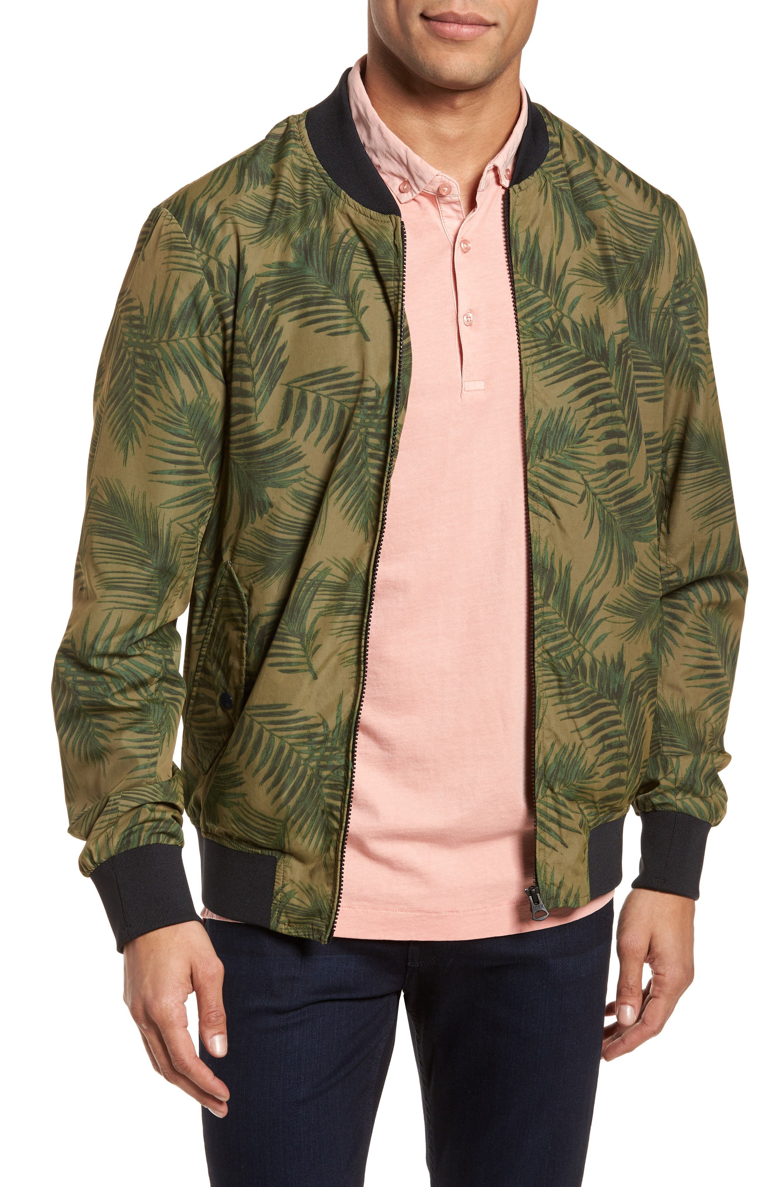 Bomber Jacket,                         Main,                         color, Army